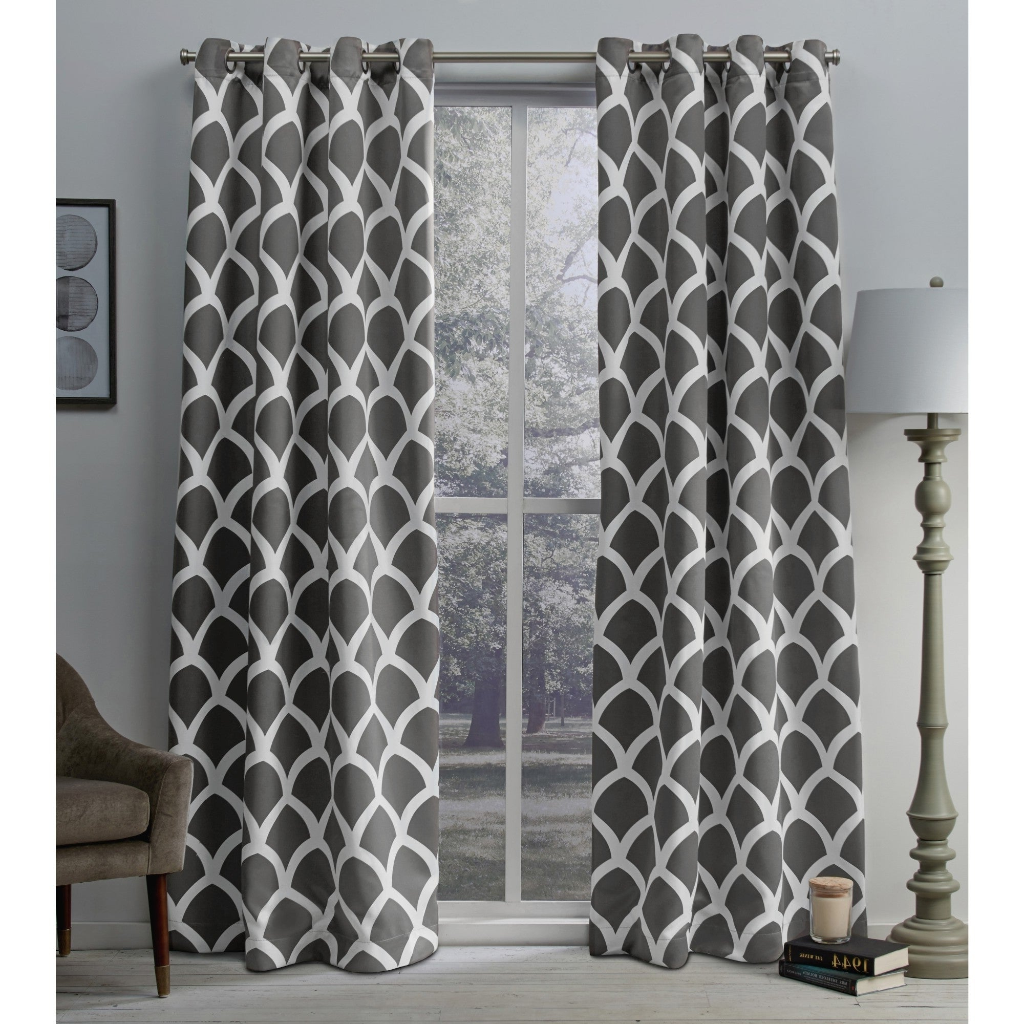 Widely Used The Curated Nomad Ames Sateen Woven Blackout Grommet Top Curtain Panel Pair In Woven Blackout Grommet Top Curtain Panel Pairs (View 5 of 20)