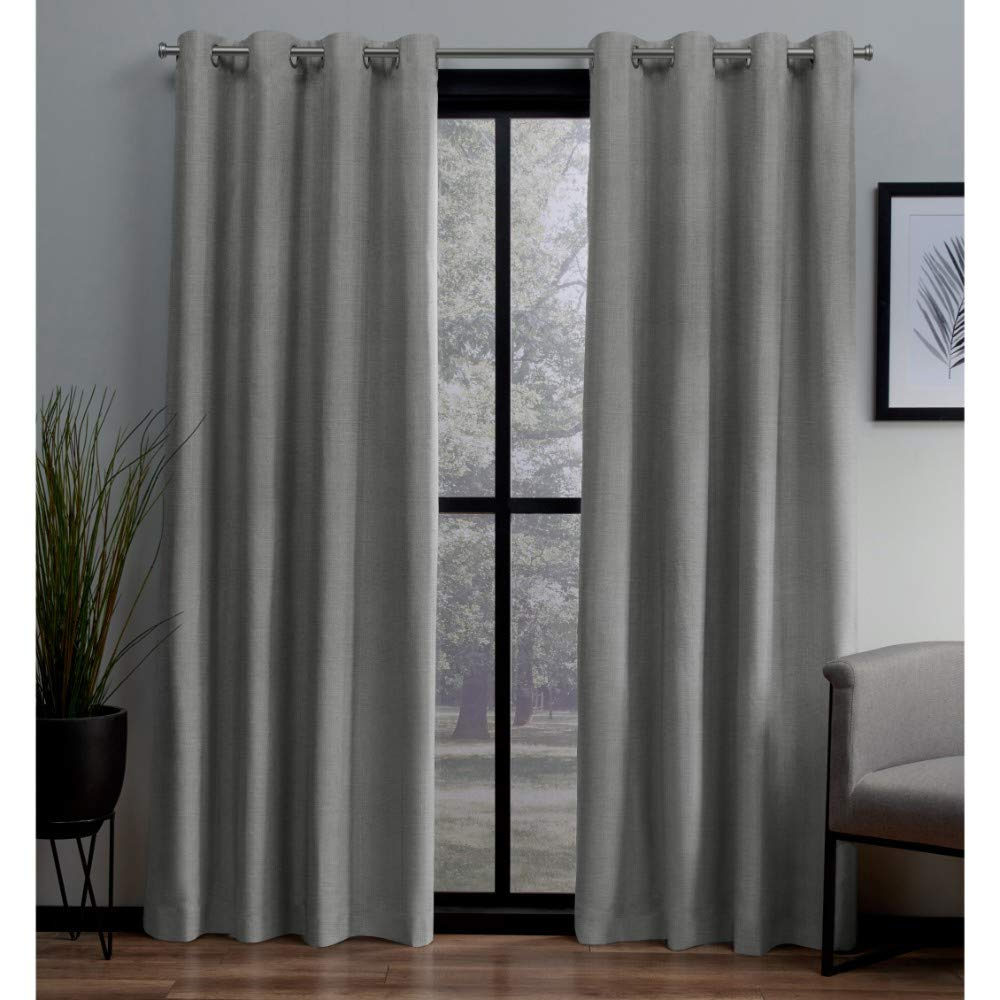 Widely Used Thermal Textured Linen Grommet Top Curtain Panel Pairs Pertaining To Exclusive Home Curtains London Textured Linen Thermal Window Curtain Panel Pair With Grommet Top 54X108 Dove Grey 2 Piece (View 3 of 20)
