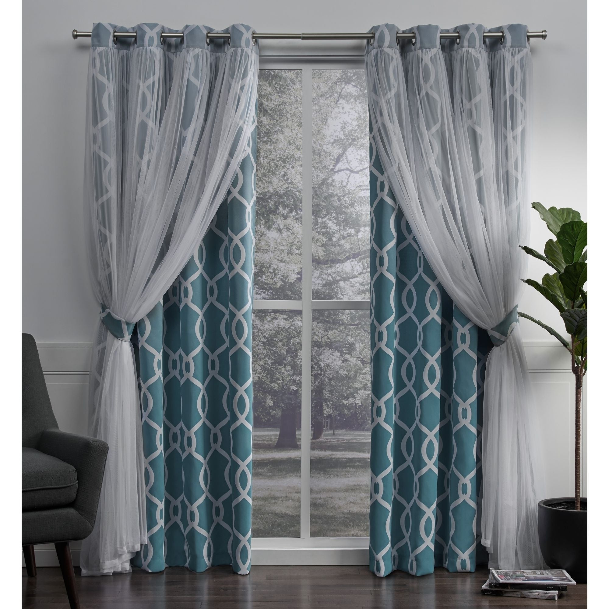 Featured Photo of Thermal Woven Blackout Grommet Top Curtain Panel Pairs