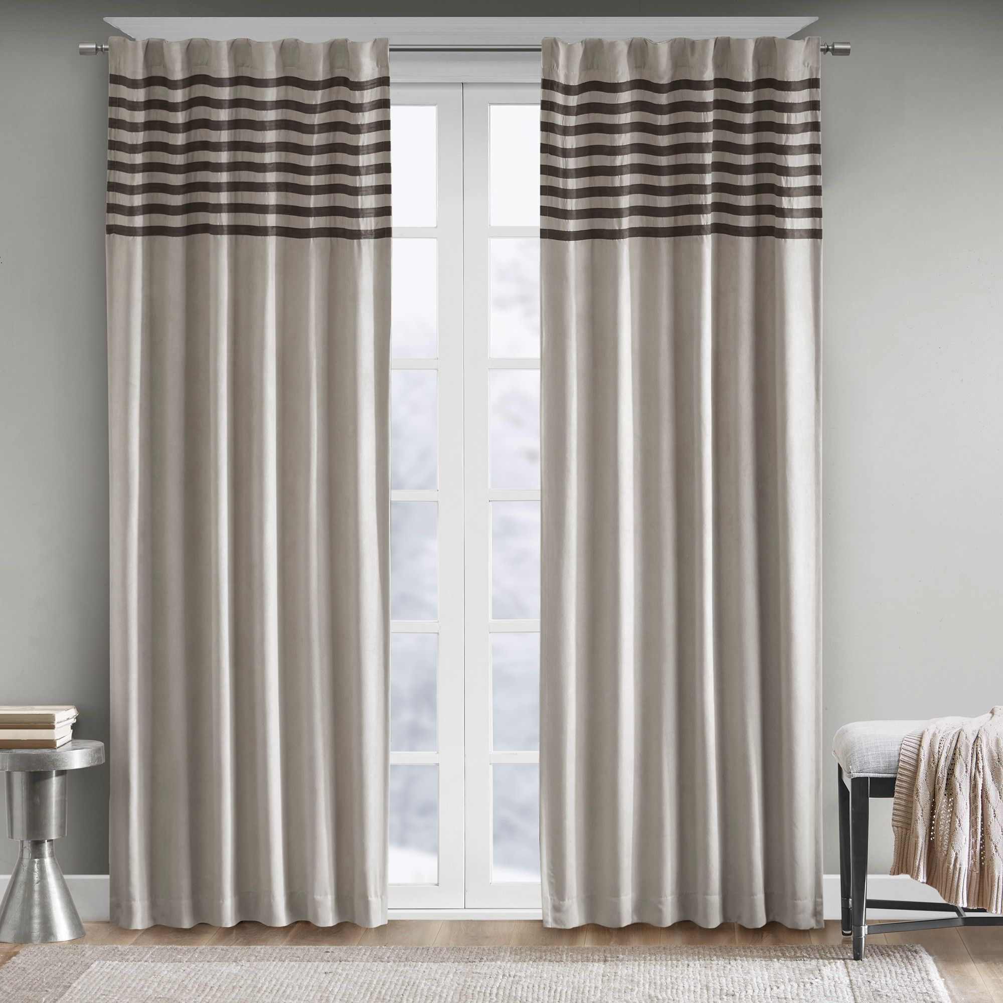 """Widely Used Whitman Curtain Panel Pairs With Connell Curtain Panel Pair Gray 42""""x95"""" (View 15 of 20)"""