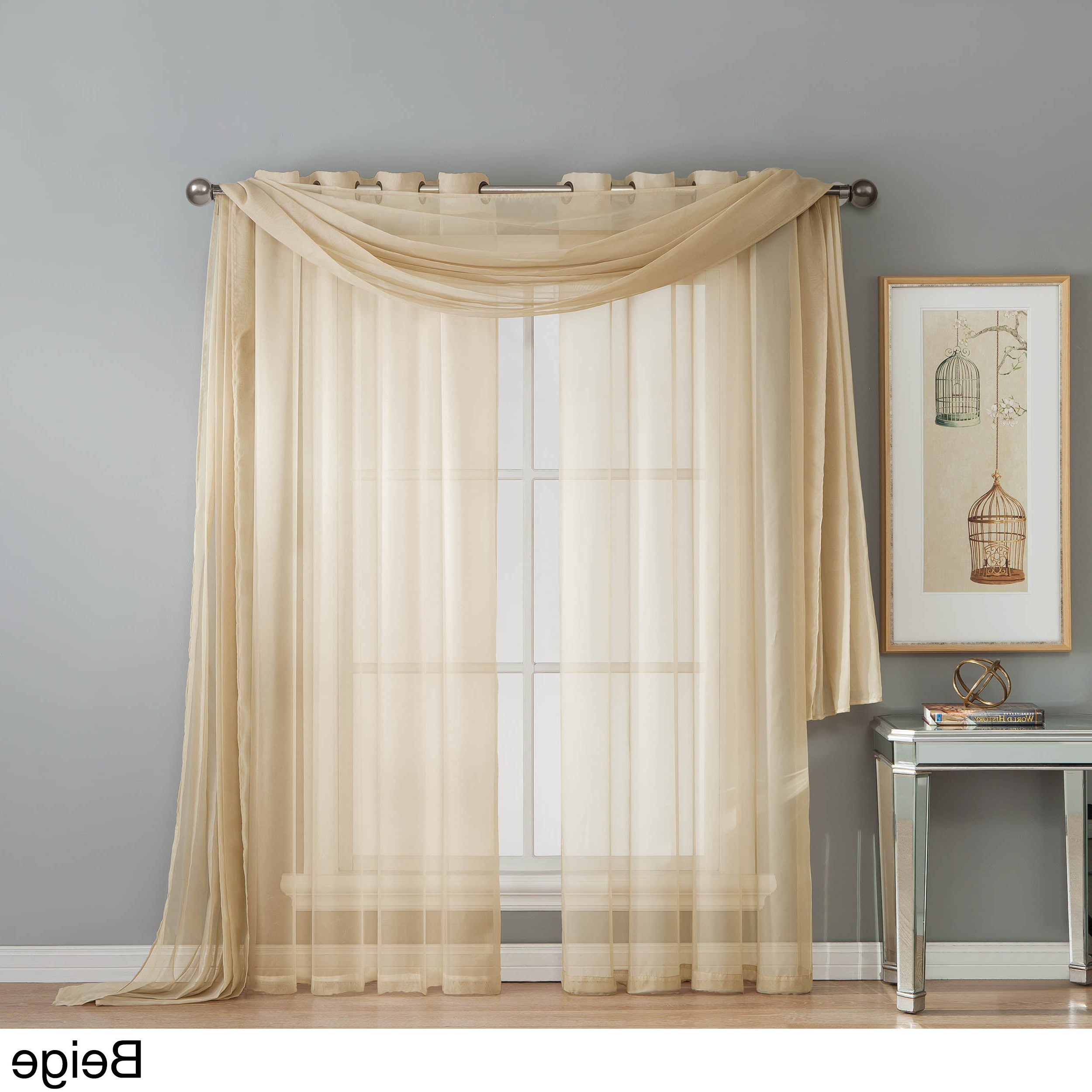 Window Elements Diamond Sheer Voile 112 X 84 In (View 20 of 20)