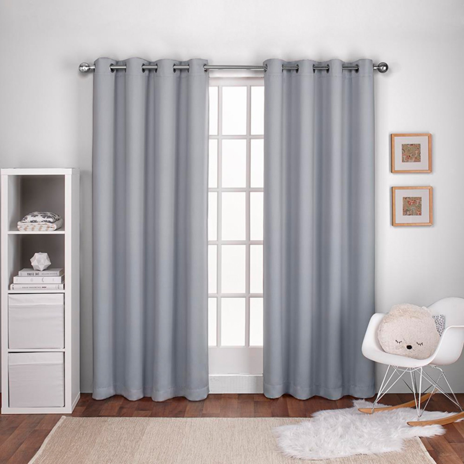 Woven Blackout Curtain Panel Pairs With Grommet Top For 2021 Exclusive Home Textured Woven Blackout Window Curtain Panel Pair With  Grommet Top (View 7 of 20)
