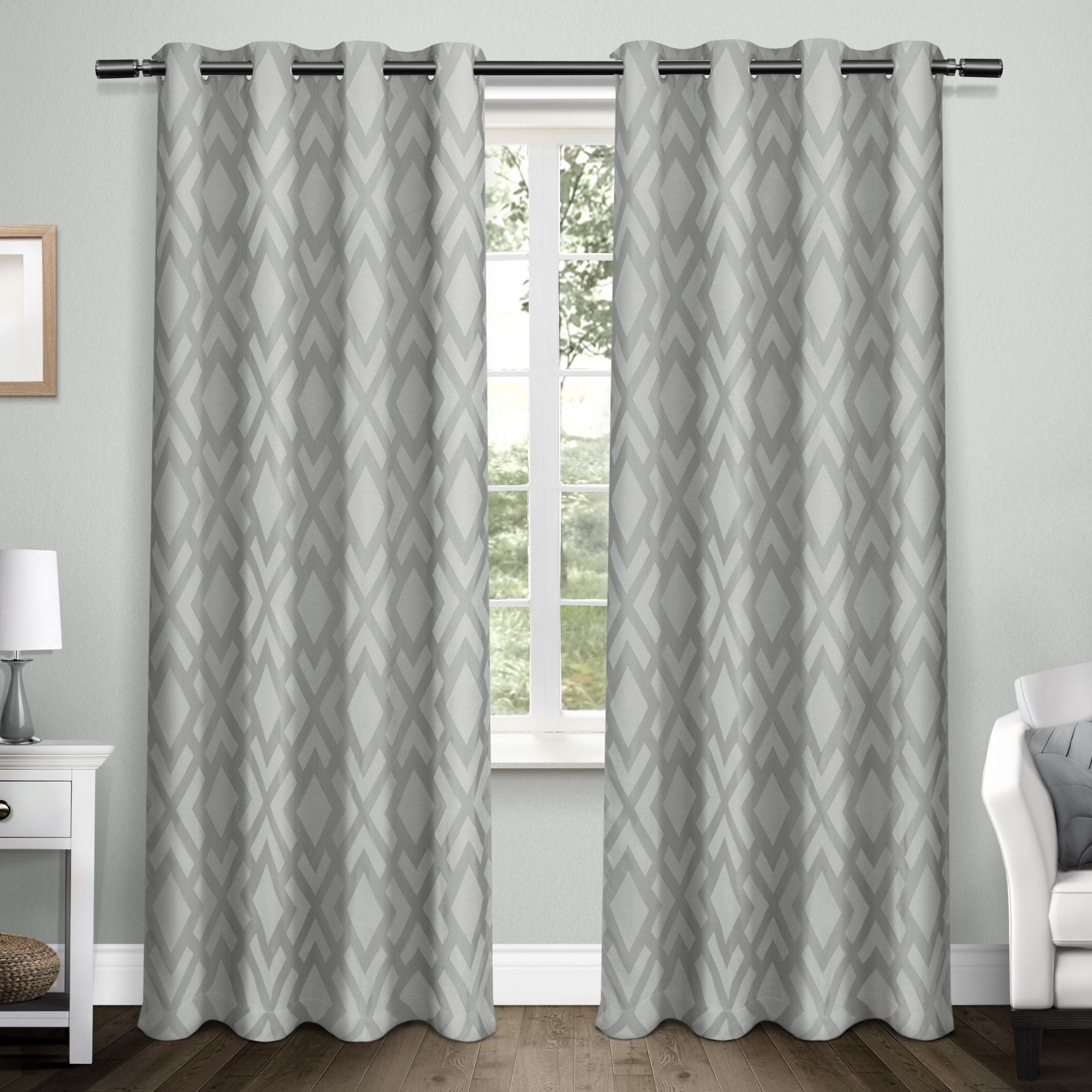 Woven Blackout Curtain Panel Pairs With Grommet Top Intended For Most Popular Ati Home Easton Thermal Woven Blackout Grommet Top Curtain Panel Pair (View 4 of 20)