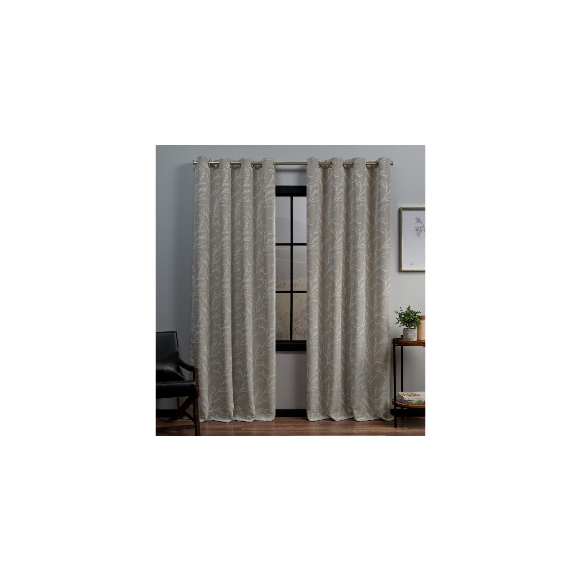 """Woven Blackout Curtain Panel Pairs With Grommet Top Within Preferred 52""""x63"""" Kilberry Woven Blackout Grommet Top Window Curtain (View 19 of 20)"""