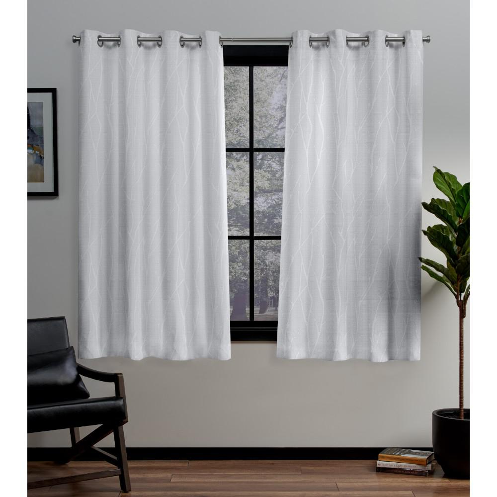Woven Blackout Grommet Top Curtain Panel Pairs Inside Preferred Exclusive Home Curtains Forest Hill Winter Grommet Top Curtain Pair (View 6 of 20)
