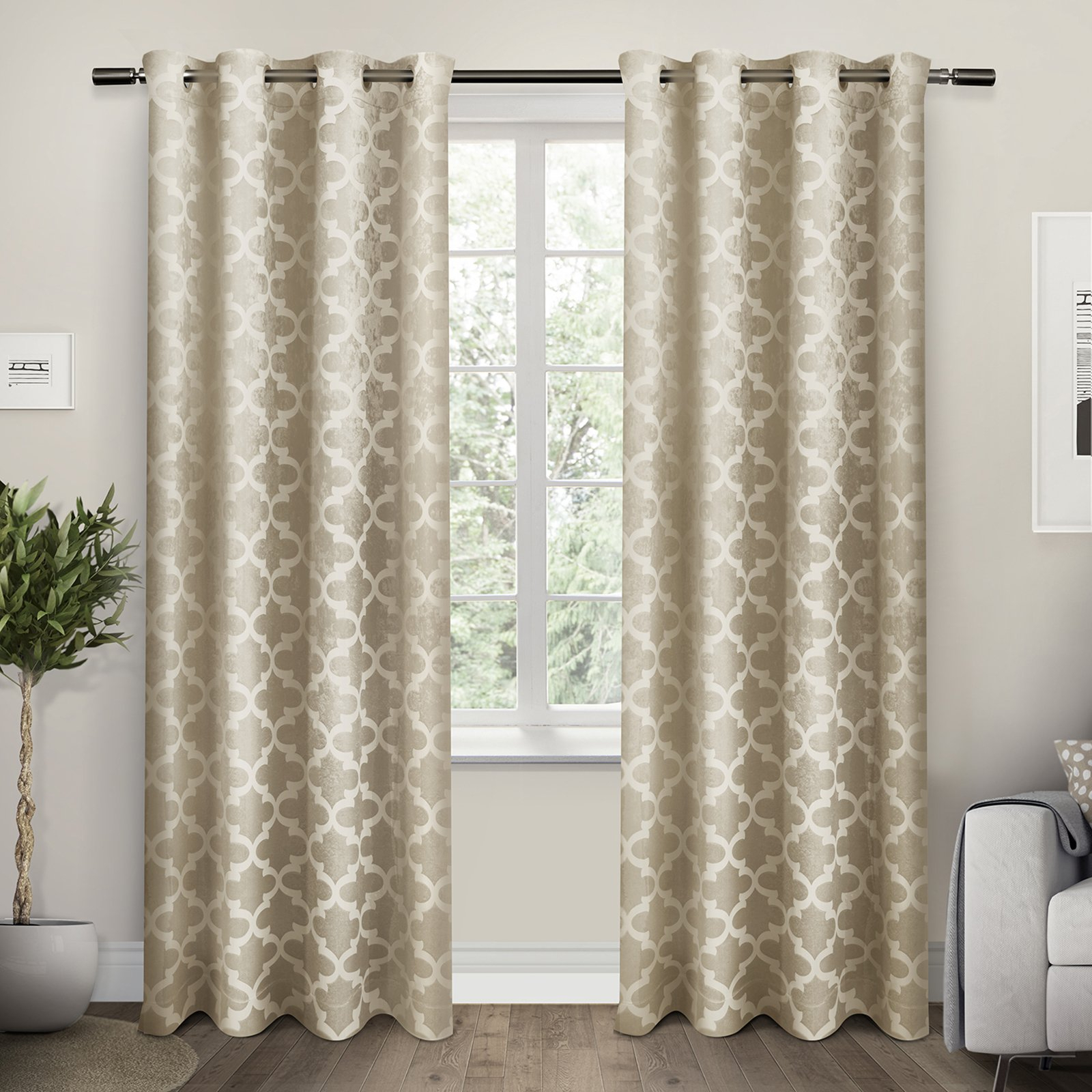 Woven Blackout Grommet Top Curtain Panel Pairs Inside Recent Cartago Woven Blackout Grommet Top Window Curtain Panel Pair (View 14 of 20)