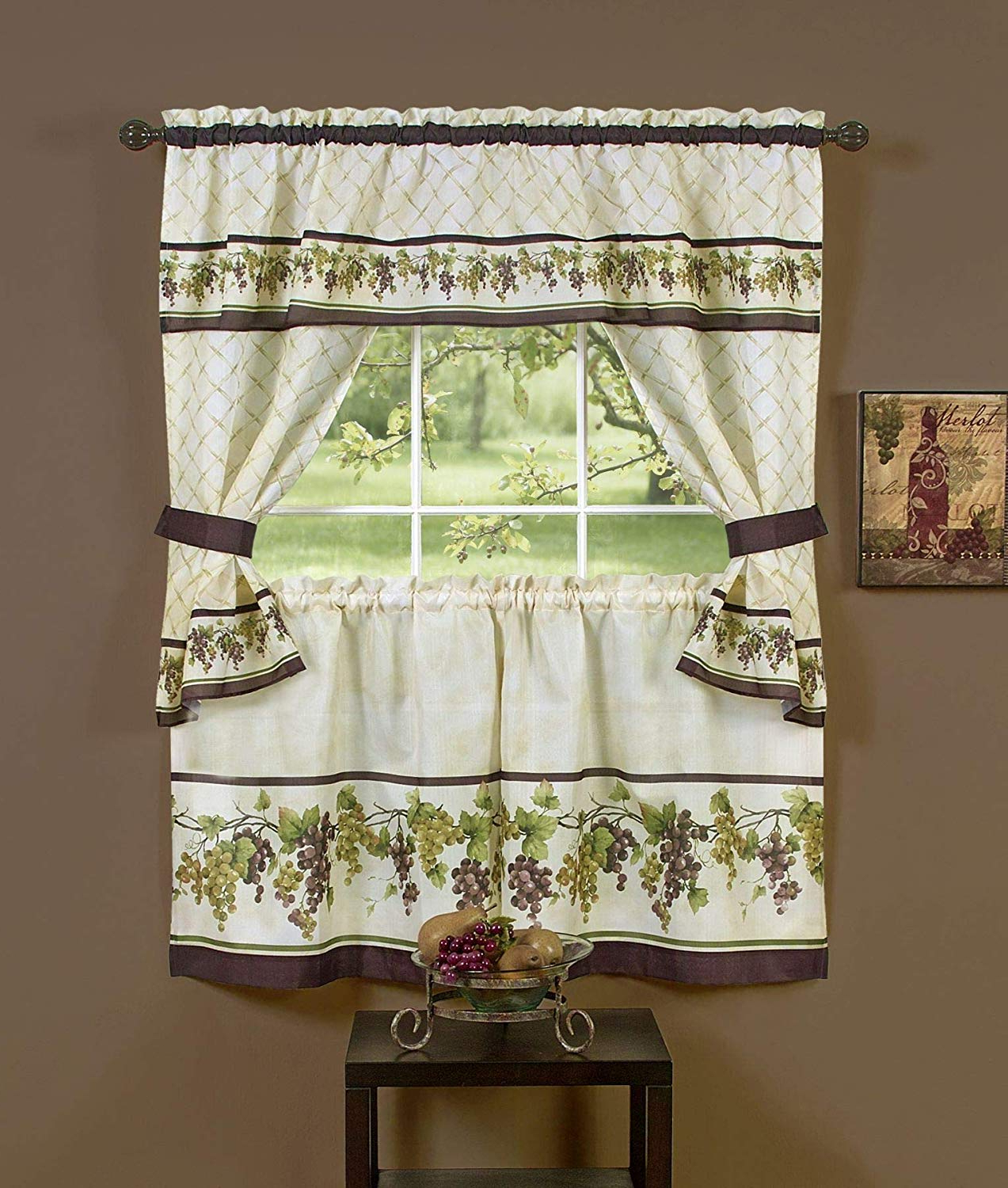 2020 Amazon: Ben & Jonah Primehome Collection Tuscany Cottage Within Tailored Toppers With Valances (View 11 of 20)