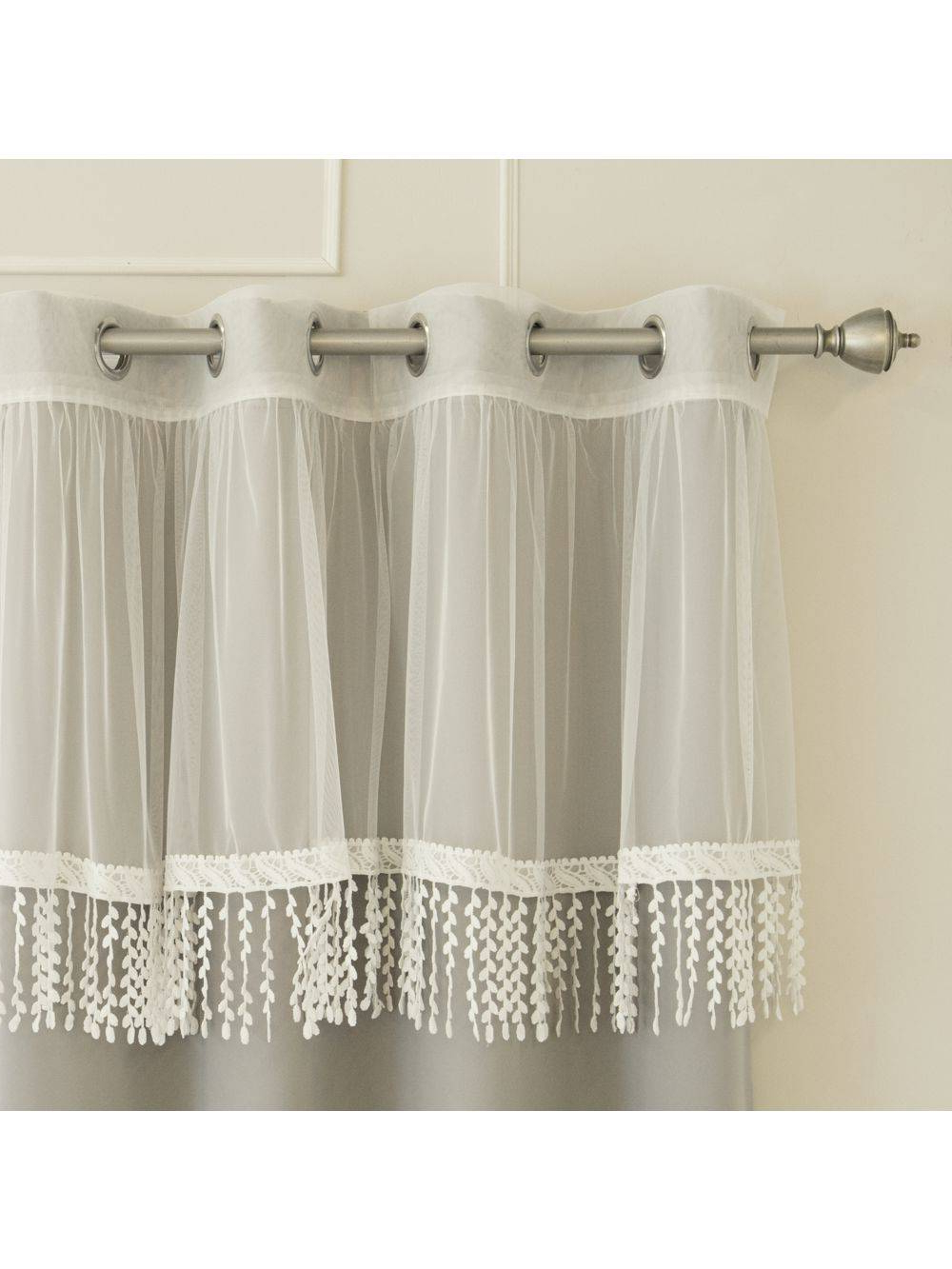 2020 Fluttering Butterfly White Embroidered Tier, Swag, Or Valance Kitchen Curtains Intended For Embroidered Fluttering Butterfly Kitchen Curtains Tiers Swag (View 6 of 20)