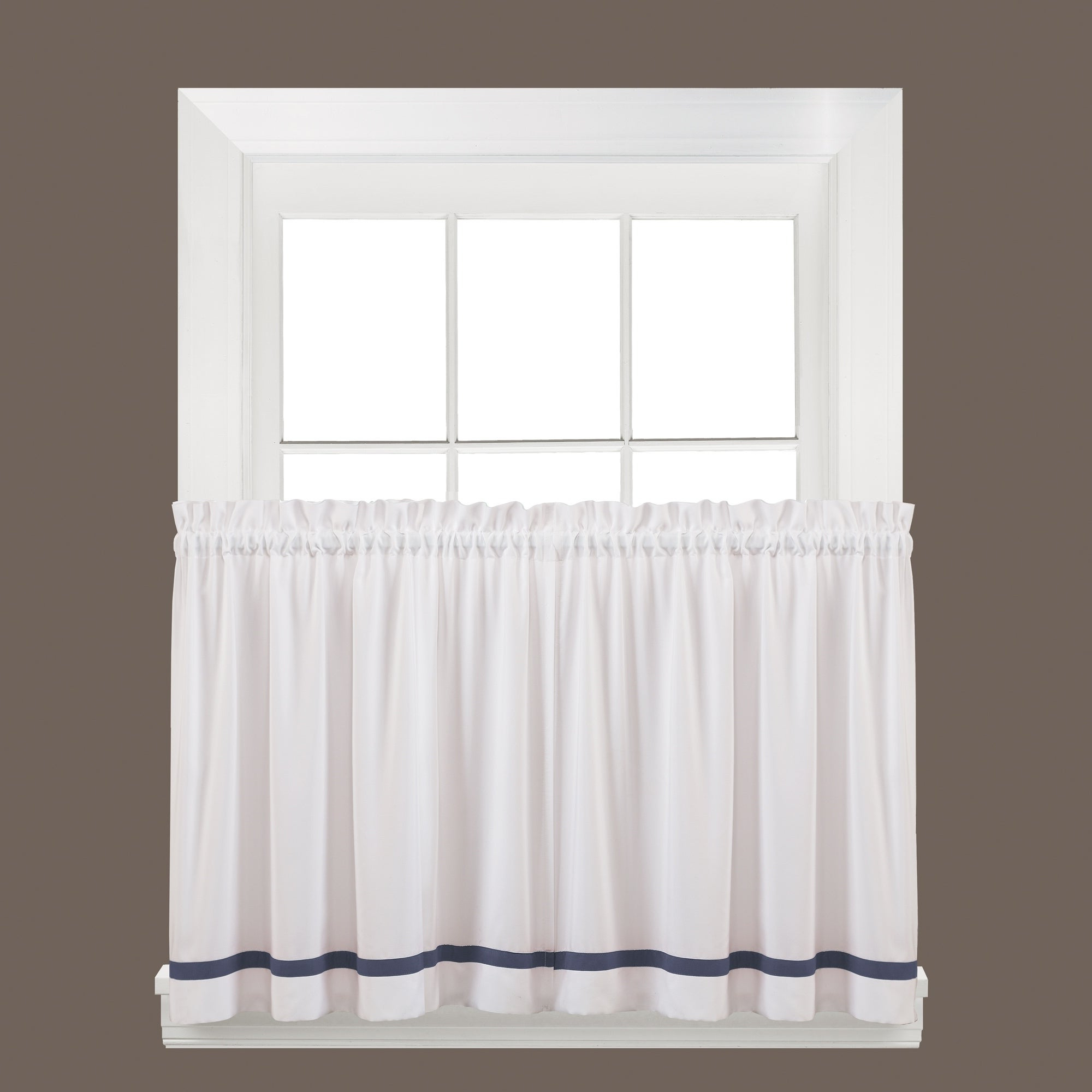 2020 Forest Valance And Tier Pair Curtains Inside Details About Skl Home Kate 36 Inch Tier Pair In Blue Blue (View 11 of 20)