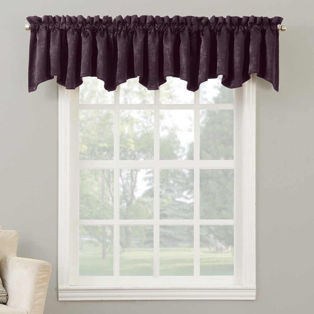 2020 Maize Vertical Ruffled Waterfall Valance And Curtain Tiers Inside Cassidy Velvet Rod Pocket Blackout Curtain Valance Eggplant (View 20 of 20)
