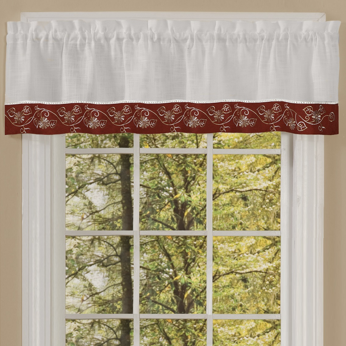 "2020 Oakwood Linen Style Kitchen Window Curtain 58"" X 36"" Kitchen Curtains, Set Of 2, Natural Regarding Oakwood Linen Style Decorative Curtain Tier Sets (View 8 of 20)"