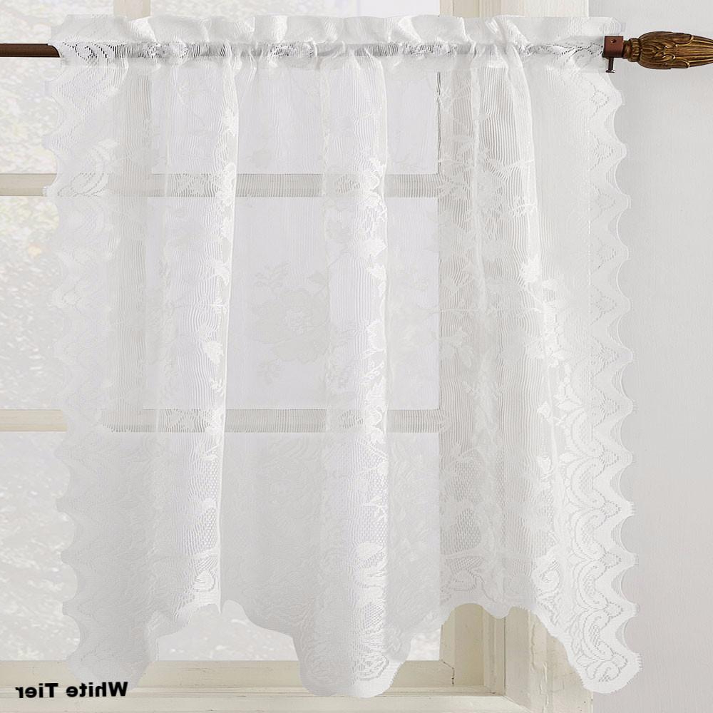 2020 Pinterest – India Within French Vanilla Country Style Curtain Parts With White Daisy Lace Accent (View 1 of 20)