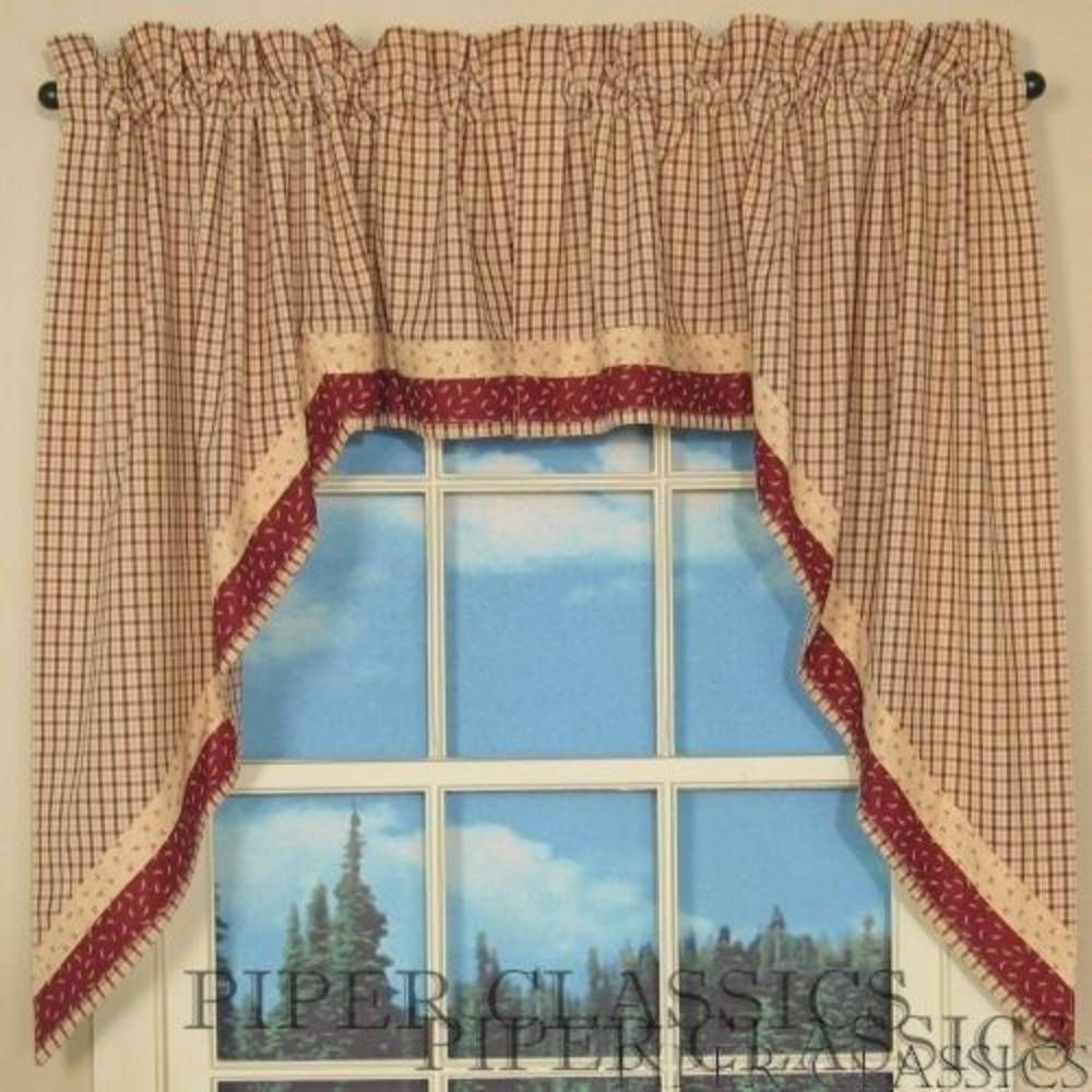 2020 Primitive Kitchen Curtains With Image Result For Priscilla Style Swag Curtains Primitive (View 15 of 20)