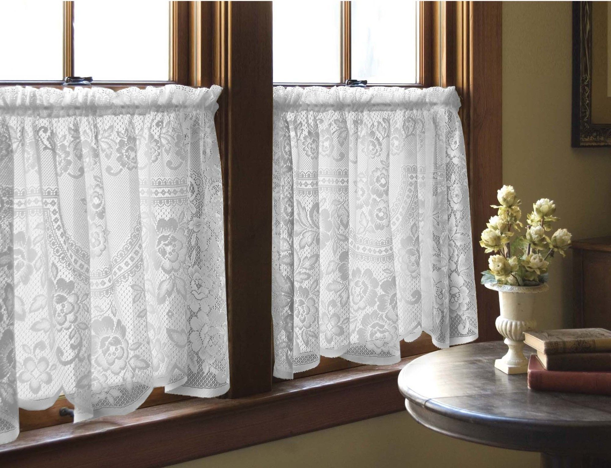 2020 Victorian Rose Tier Curtain (View 13 of 20)