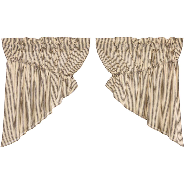 2021 Amazon: Vhc Brands Farmhouse Kitchen Curtains Sawyer Pertaining To Farmhouse Stripe Kitchen Tier Pairs (View 1 of 20)