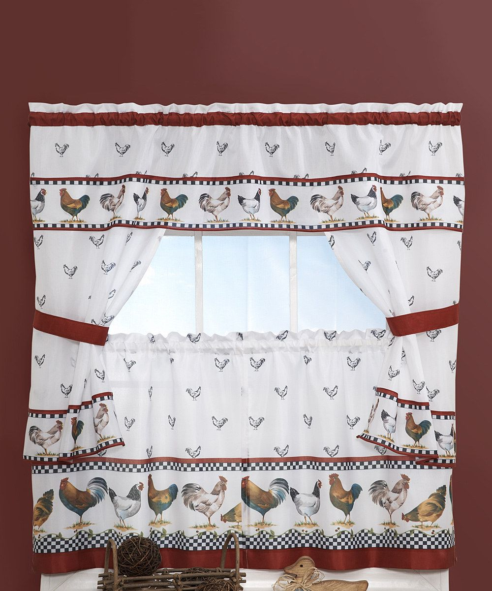 2021 Top Of The Morning Printed Tailored Cottage Curtain Tier Sets In Look At This Achim Importing Co (View 13 of 20)