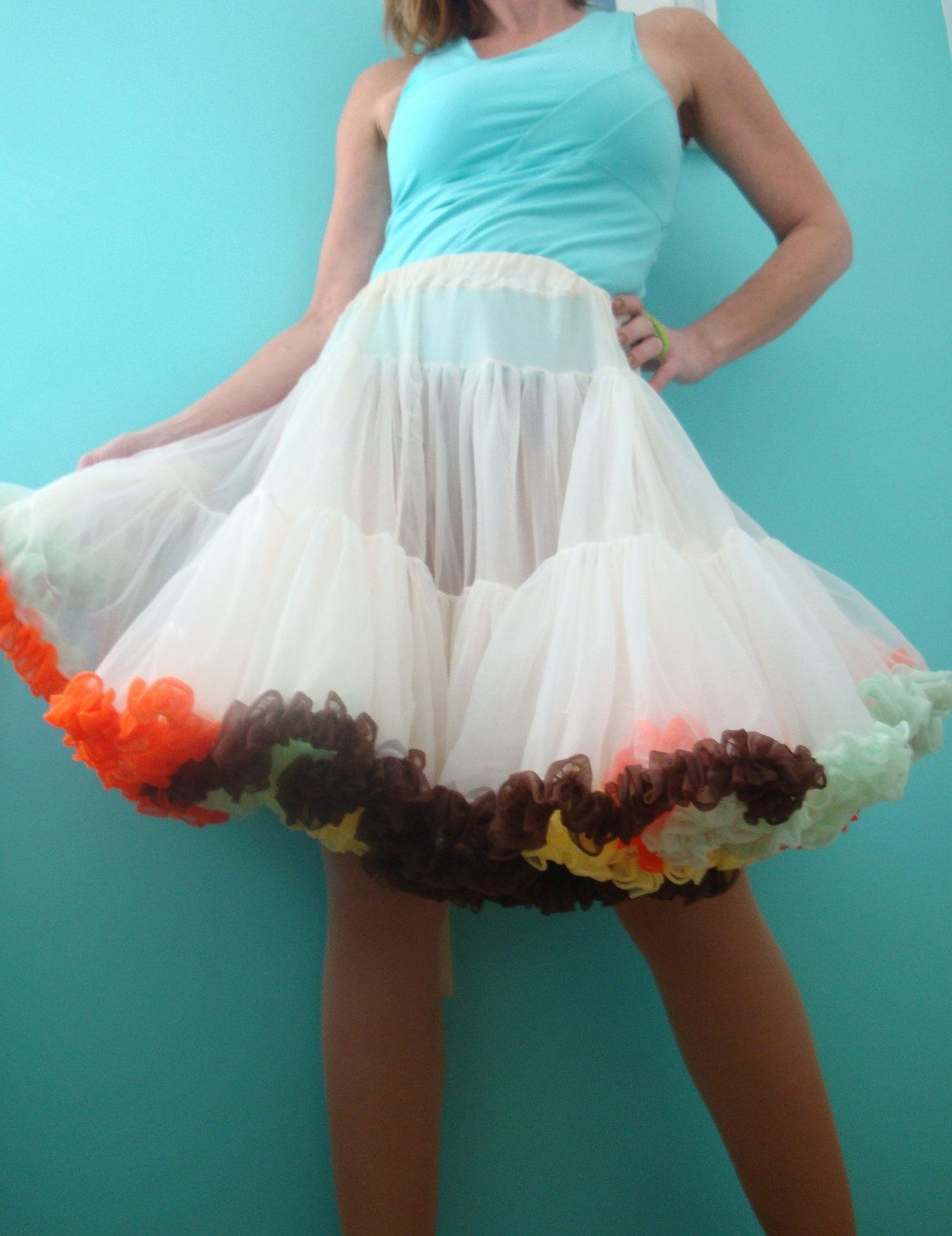 2021 White Ruffled Sheer Petticoat Tier Pairs With Regard To Pin On Petticoats (View 15 of 20)