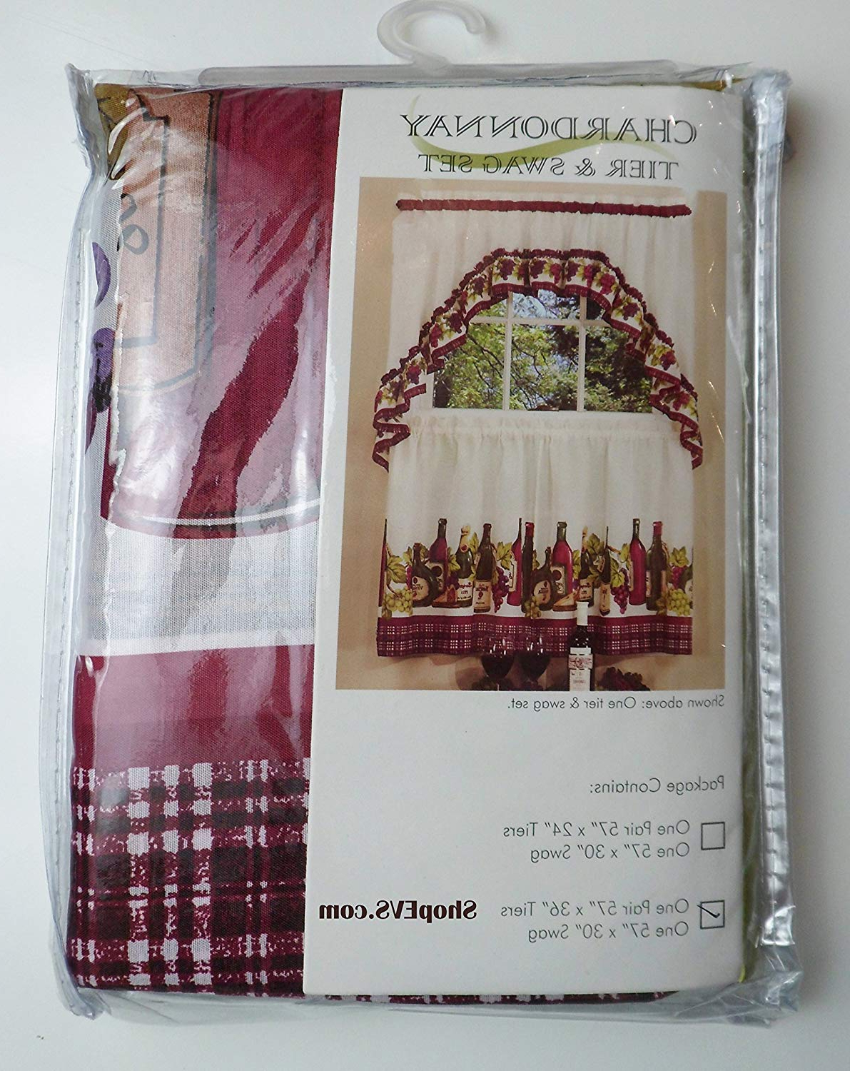 Achim Chardonnay Kitchen Curtain With Swag And Tier Set 36 In #1474 Throughout Current Chardonnay Tier And Swag Kitchen Curtain Sets (View 1 of 20)