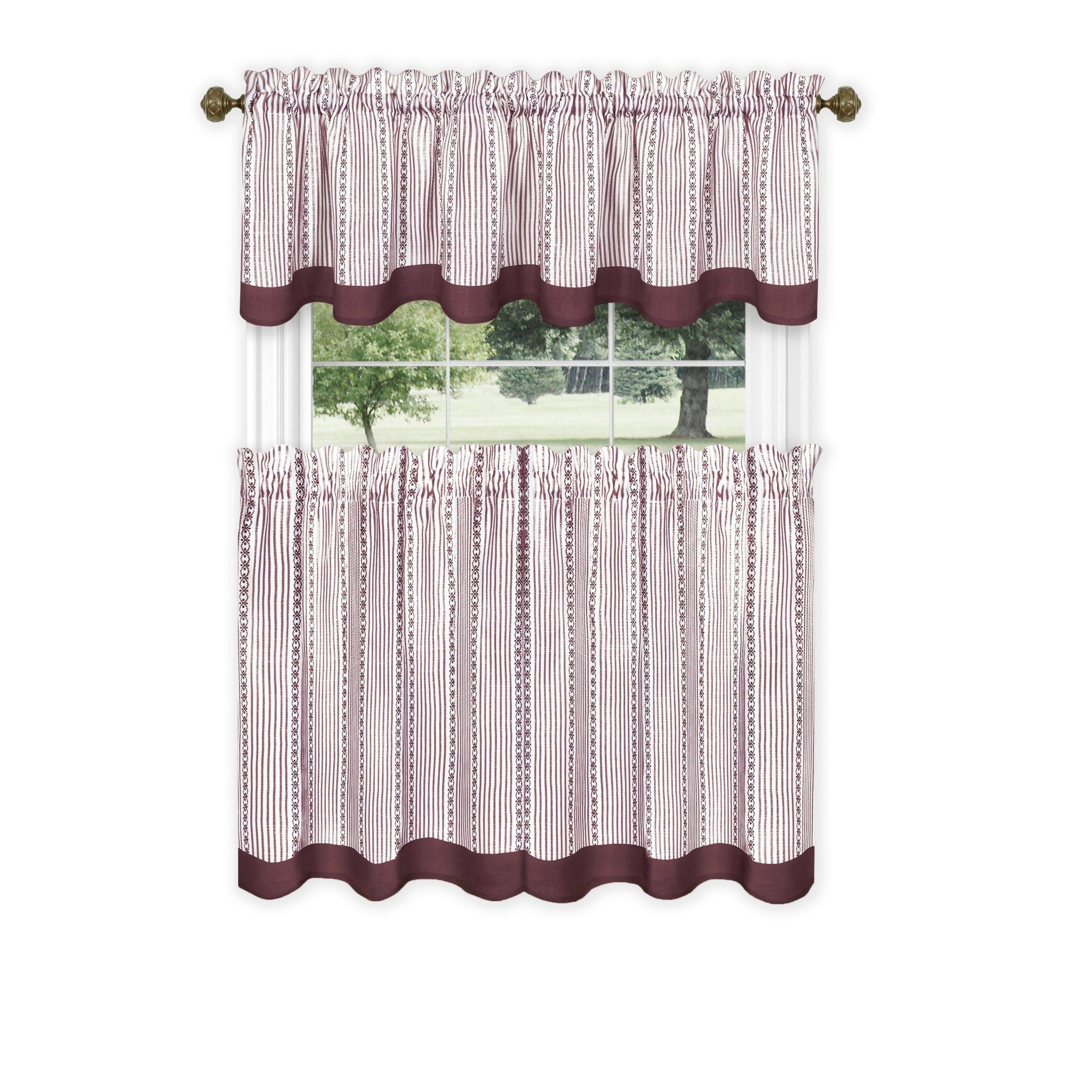 Achim Westport Window Curtain Tier Pair And Valance Set With Regard To Most Recent Window Curtain Tier And Valance Sets (View 18 of 20)