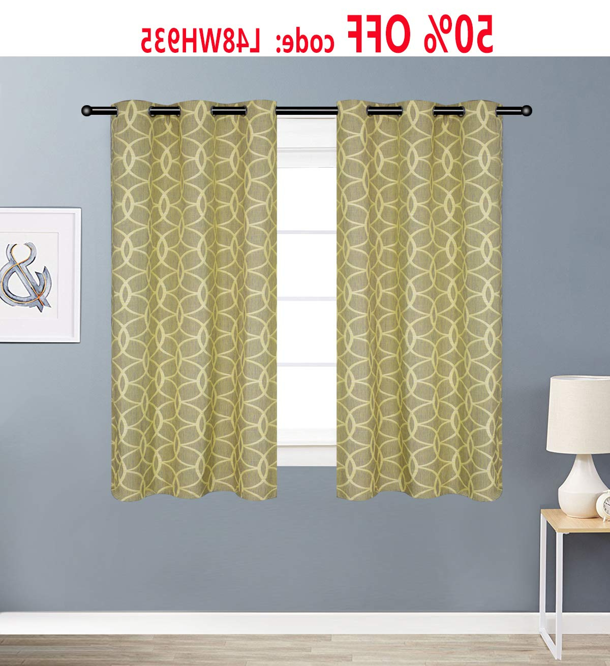 Alice Brown Curtains/drapes Linen Textured Curtains For Bedroom, Patio Curtain, Flax Linen Blend Textured Circle Window Drapes Set For Living Room – 2 In Famous Modern Subtle Texture Solid Red Kitchen Curtains (View 20 of 20)