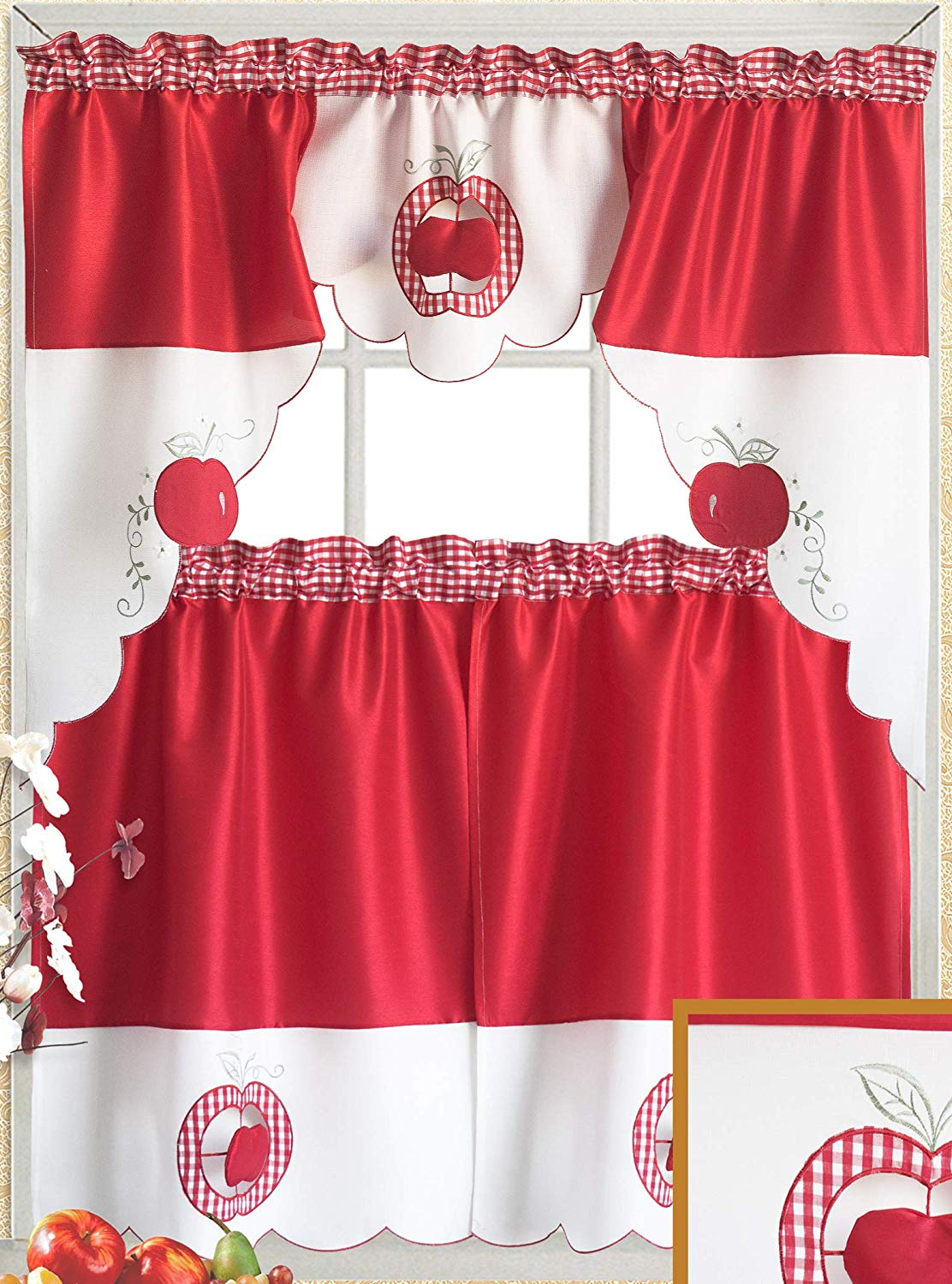 [%amazon: Just Enjoy Lace 100% Polyester White Red Color With Regard To Recent Red Delicious Apple 3 Piece Curtain Tiers|red Delicious Apple 3 Piece Curtain Tiers Throughout 2021 Amazon: Just Enjoy Lace 100% Polyester White Red Color|widely Used Red Delicious Apple 3 Piece Curtain Tiers Within Amazon: Just Enjoy Lace 100% Polyester White Red Color|well Known Amazon: Just Enjoy Lace 100% Polyester White Red Color Regarding Red Delicious Apple 3 Piece Curtain Tiers%] (View 12 of 20)