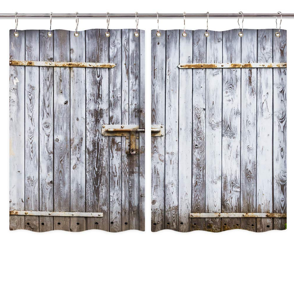 Amazon: Nymb Rustic Kitchen Window Curtains, Old Wooden Intended For Most Recently Released Rustic Kitchen Curtains (View 10 of 20)