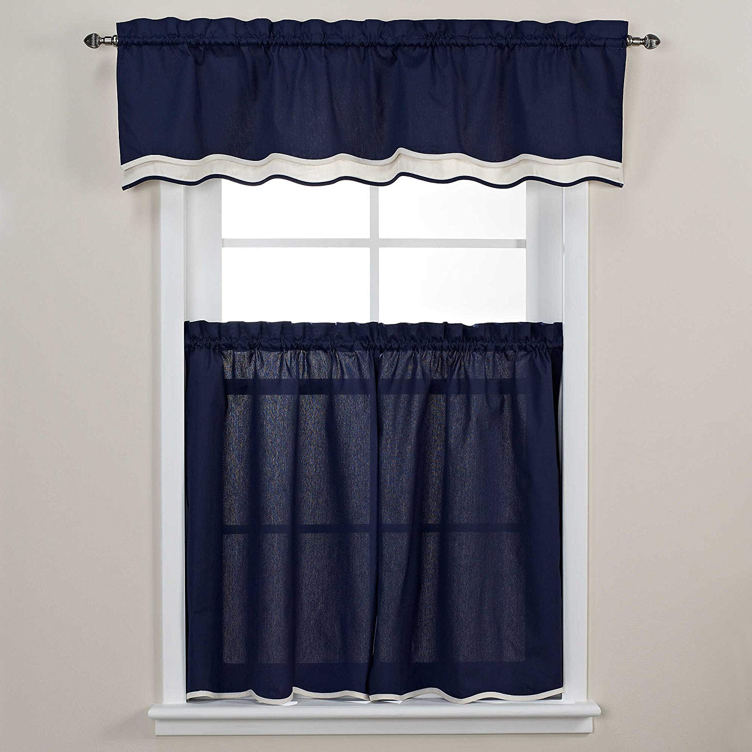 Amazon: Pipeline 24 Inch Window Curtain Tier Pair In Pertaining To Well Known Tranquility Curtain Tier Pairs (View 6 of 20)