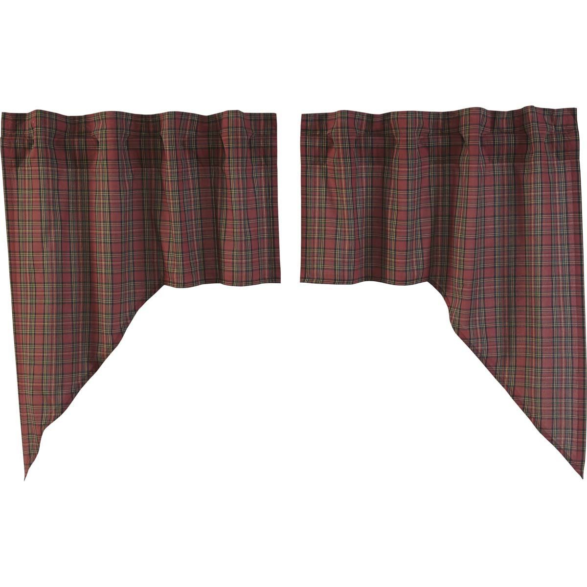 Amazon: Vhc Brands Primitive Rustic & Lodge Kitchen For Well Liked Cumberland Tier Pair Rod Pocket Cotton Buffalo Check Kitchen Curtains (View 7 of 20)