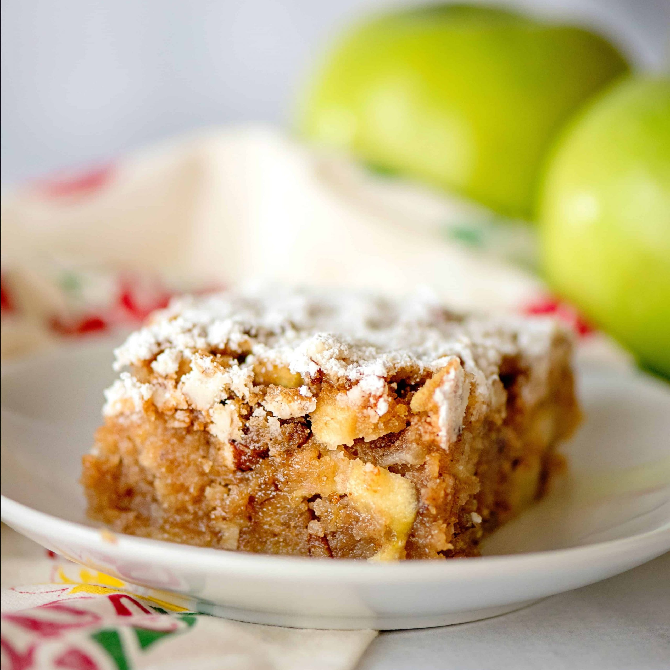 Apple Orchard Printed Kitchen Tier Sets For Most Recently Released Apple Orchard Snack Cake – Southern Plate (View 3 of 20)