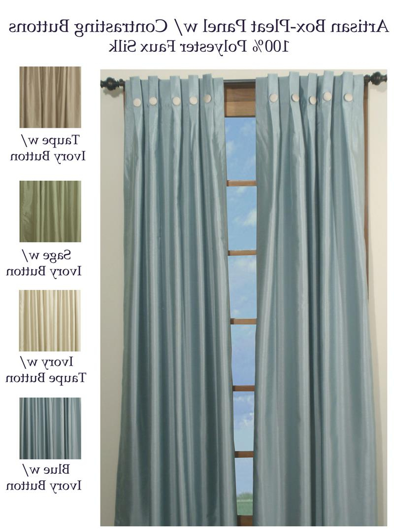 Artisan Box Pleated Curtain Panels Pertaining To Fashionable Pleated Curtain Tiers (View 19 of 20)