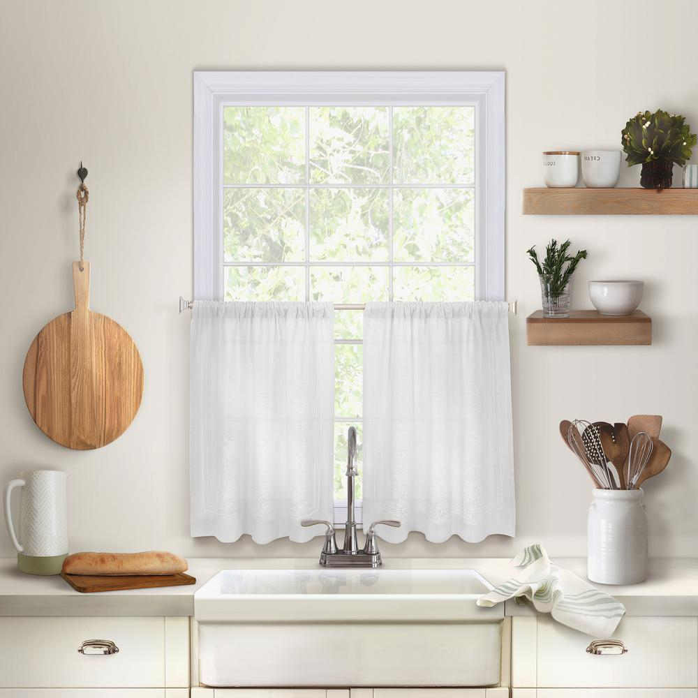 Barnyard Window Curtain Tier Pair And Valance Sets Inside Trendy Elrene Cameron Kitchen Tier Set Of (View 16 of 20)