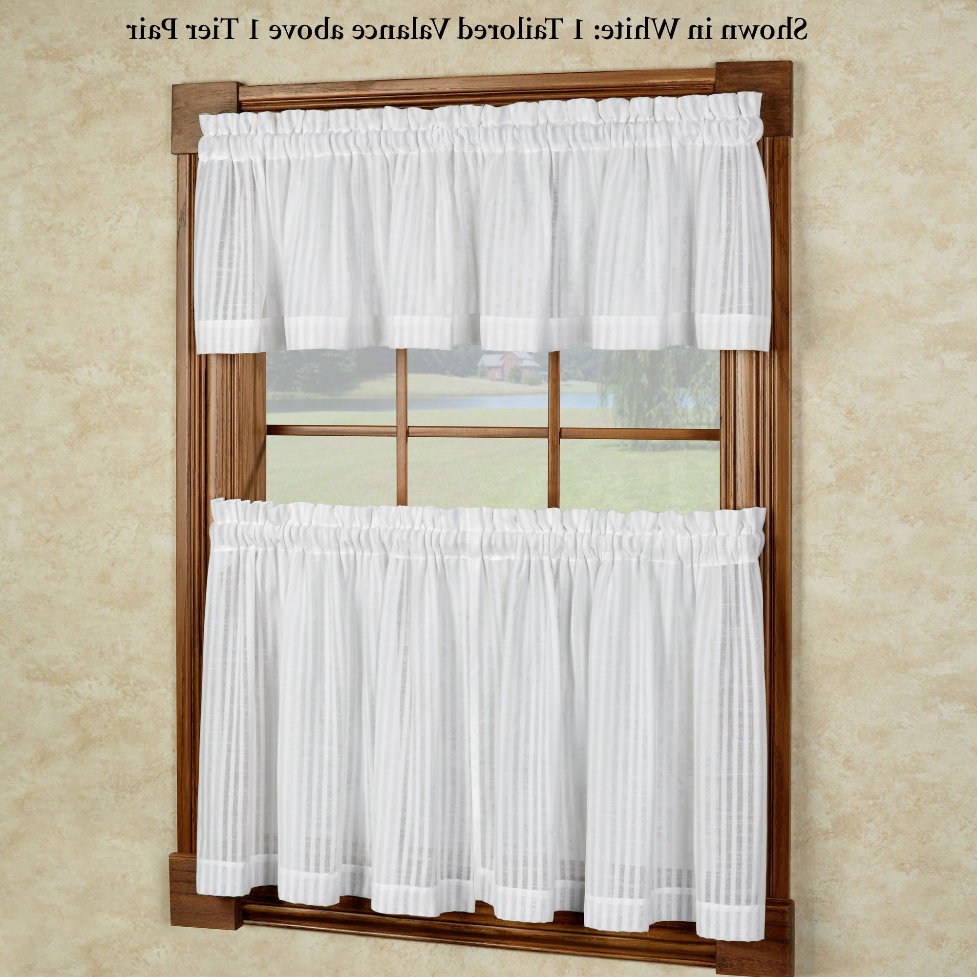 Bay Breeze Semi Sheer Tier Window Treatment In Famous Tailored Valance And Tier Curtains (View 13 of 20)