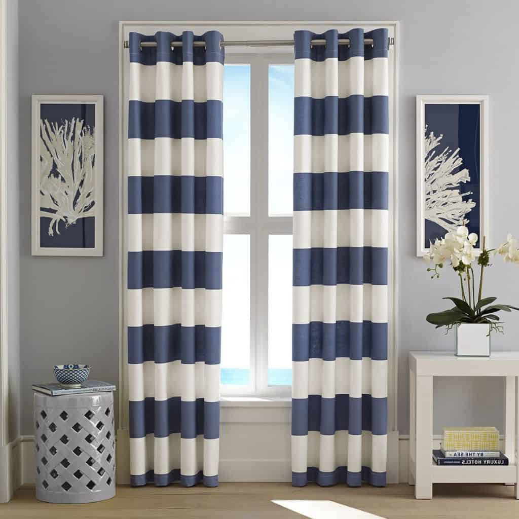 Beautiful And In Well Liked Vintage Sea Shore All Over Printed Window Curtains (View 8 of 20)