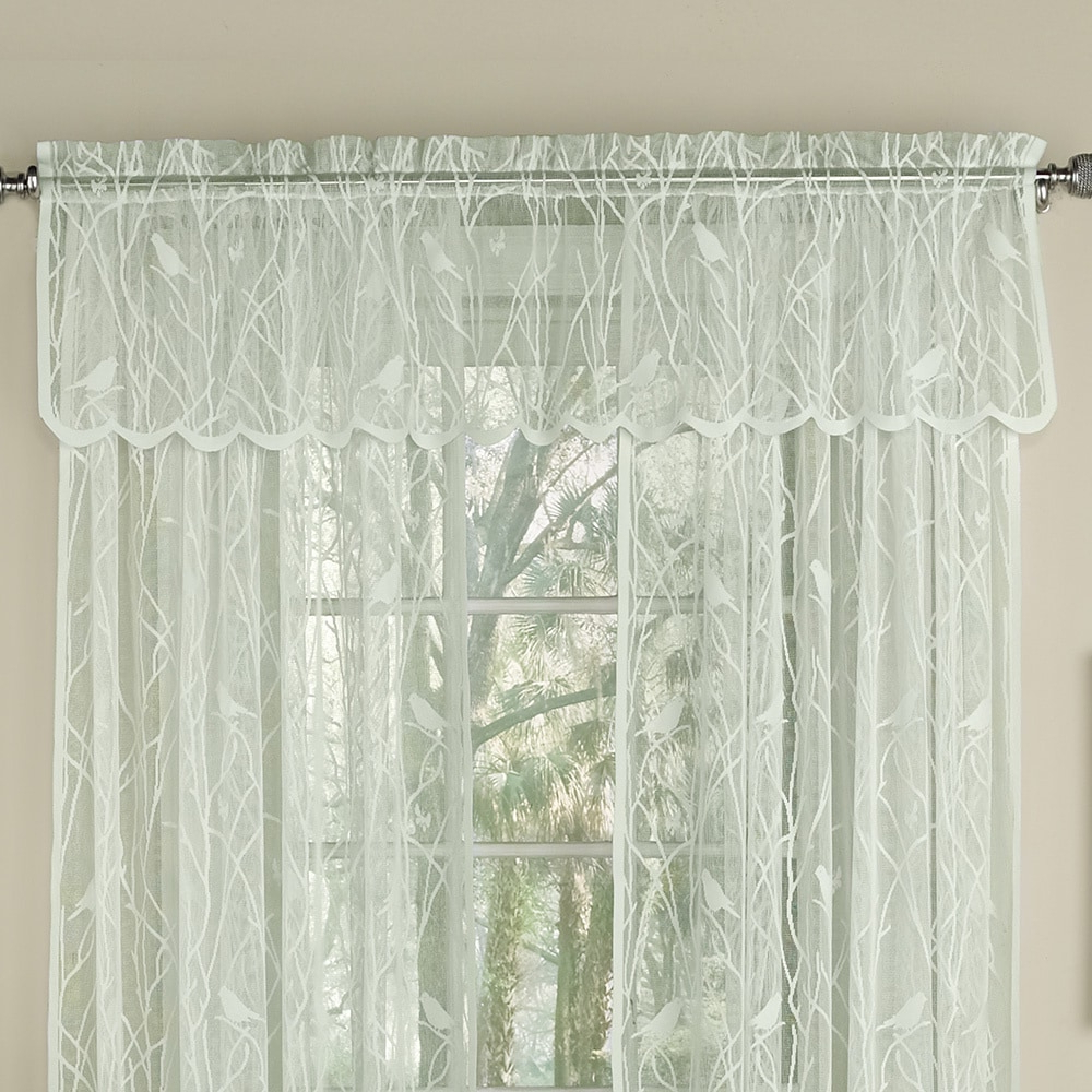 Bed Bath N More Ivory Knit Lace Bird Motif Window Treatments Intended For Most Recently Released Ivory Knit Lace Bird Motif Window Curtain (View 9 of 20)