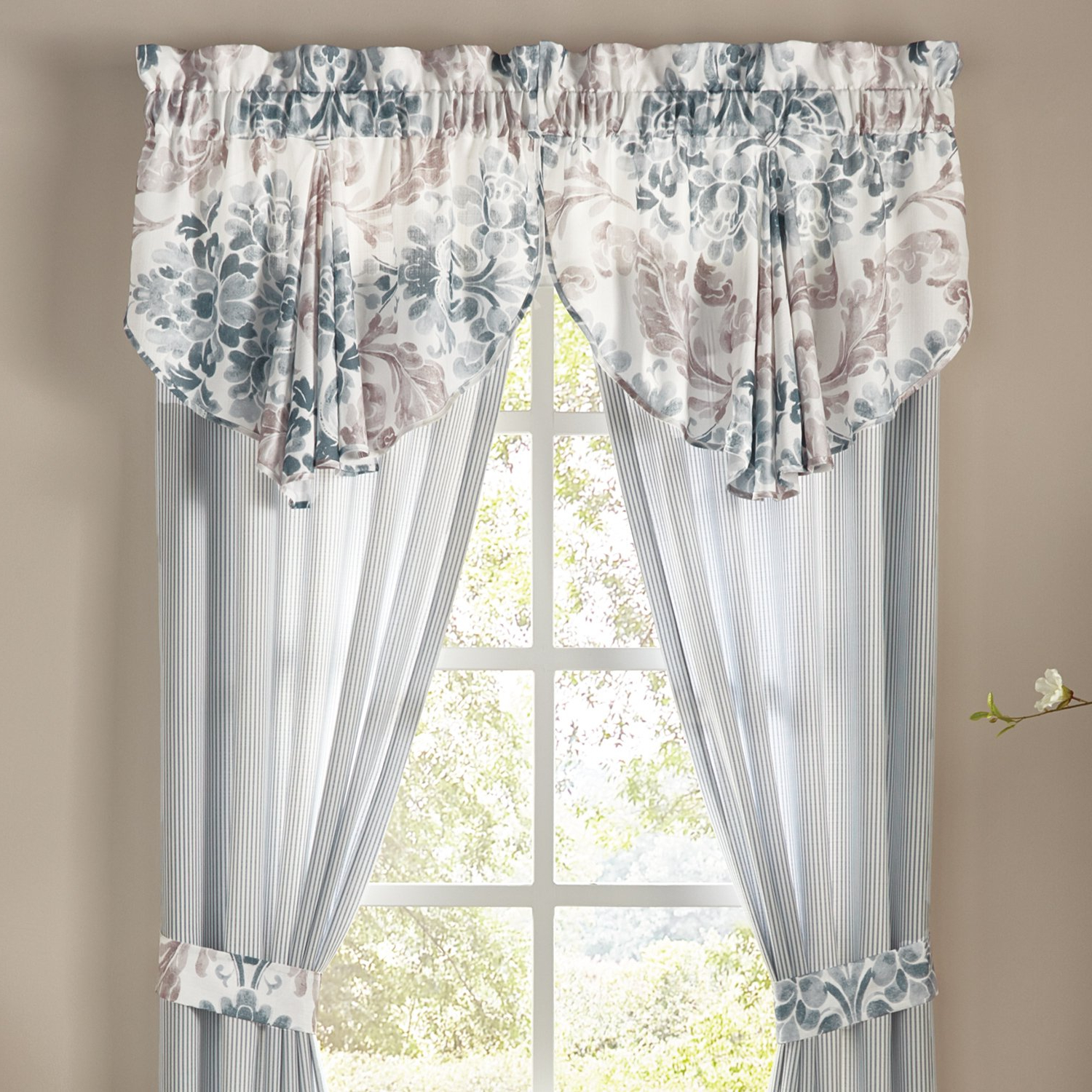 Best And Newest Circle Curtain Valances In Amazon: Croscill Kinsley Circle Valance: Home & Kitchen (View 3 of 20)