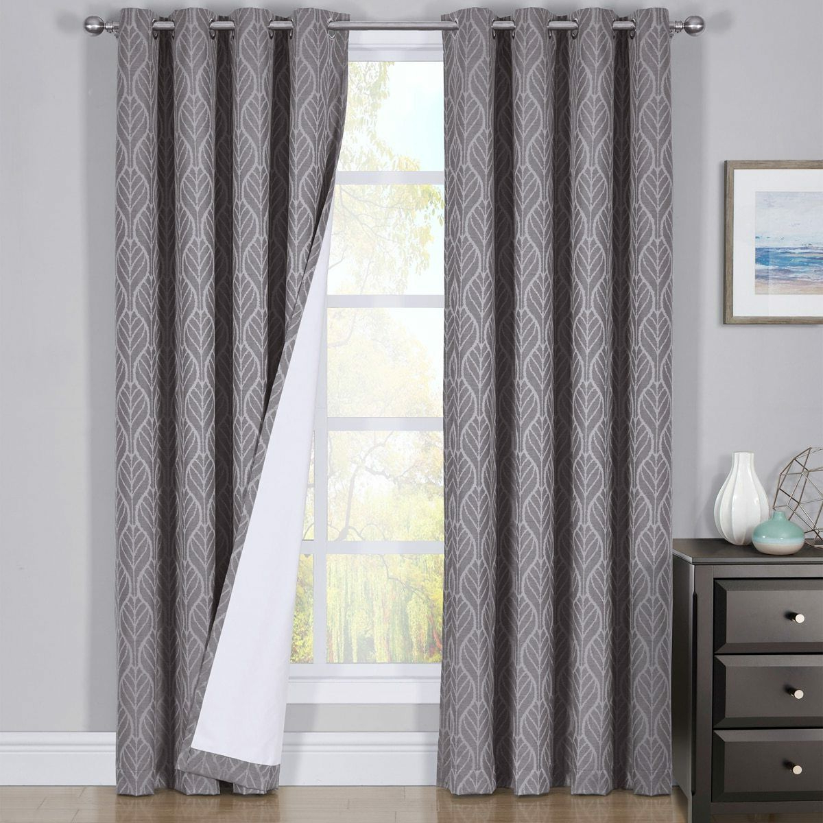 Best And Newest Hilton Window Treatment Thermal Insulated Grommet Blackout Curtains /drapes Pair Intended For Hudson Pintuck Window Curtain Valances (View 15 of 20)