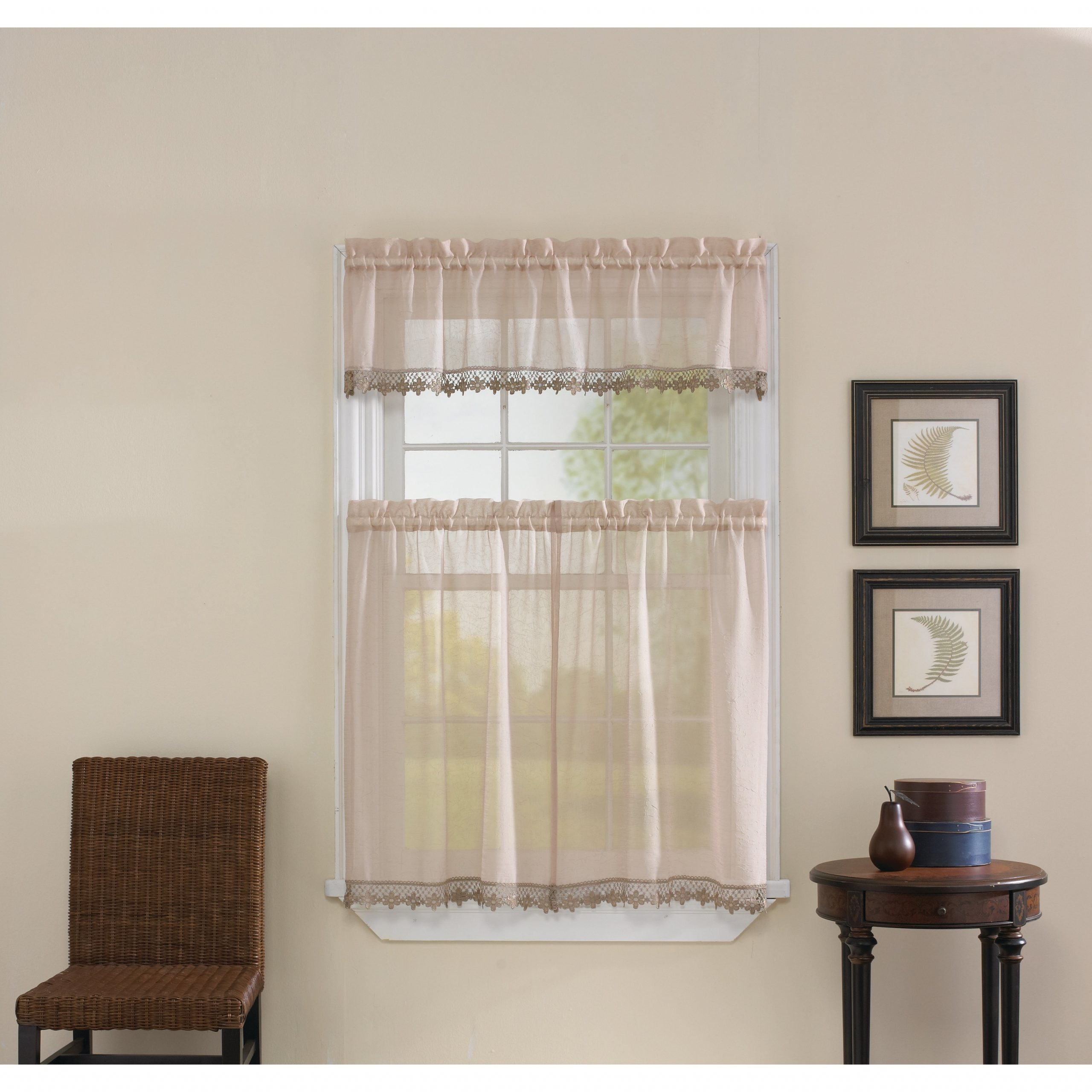 Best And Newest Leanne Tailored Valance And Tier Curtain Collection Regarding Tailored Valance And Tier Curtains (View 8 of 20)