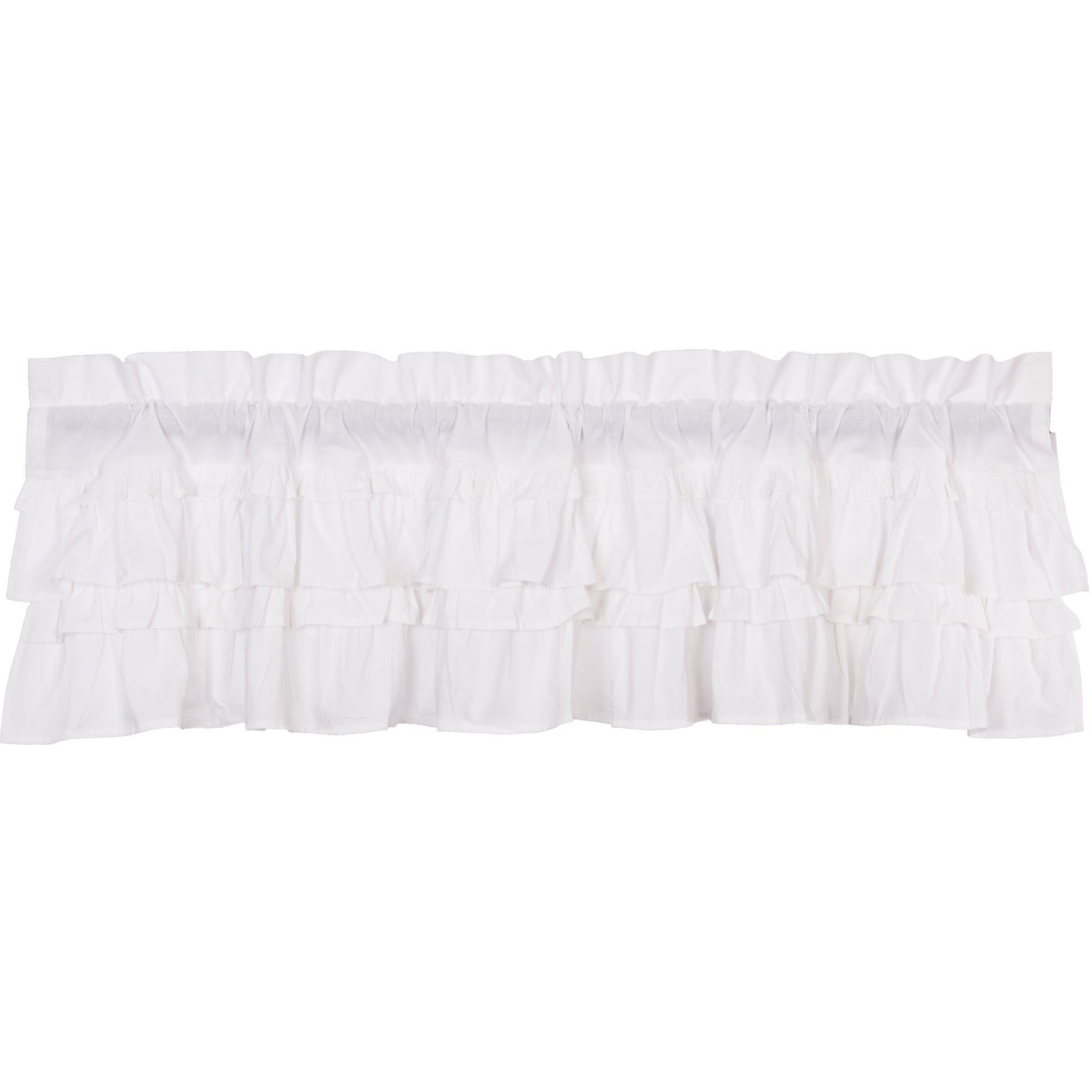 Best And Newest Rod Pocket Cotton Solid Color Ruched Ruffle Kitchen Curtains Regarding Farmhouse Kitchen Curtains Vhc Muslin Ruffled Valance Rod Pocket Cotton Solid Color Muslin (View 8 of 20)