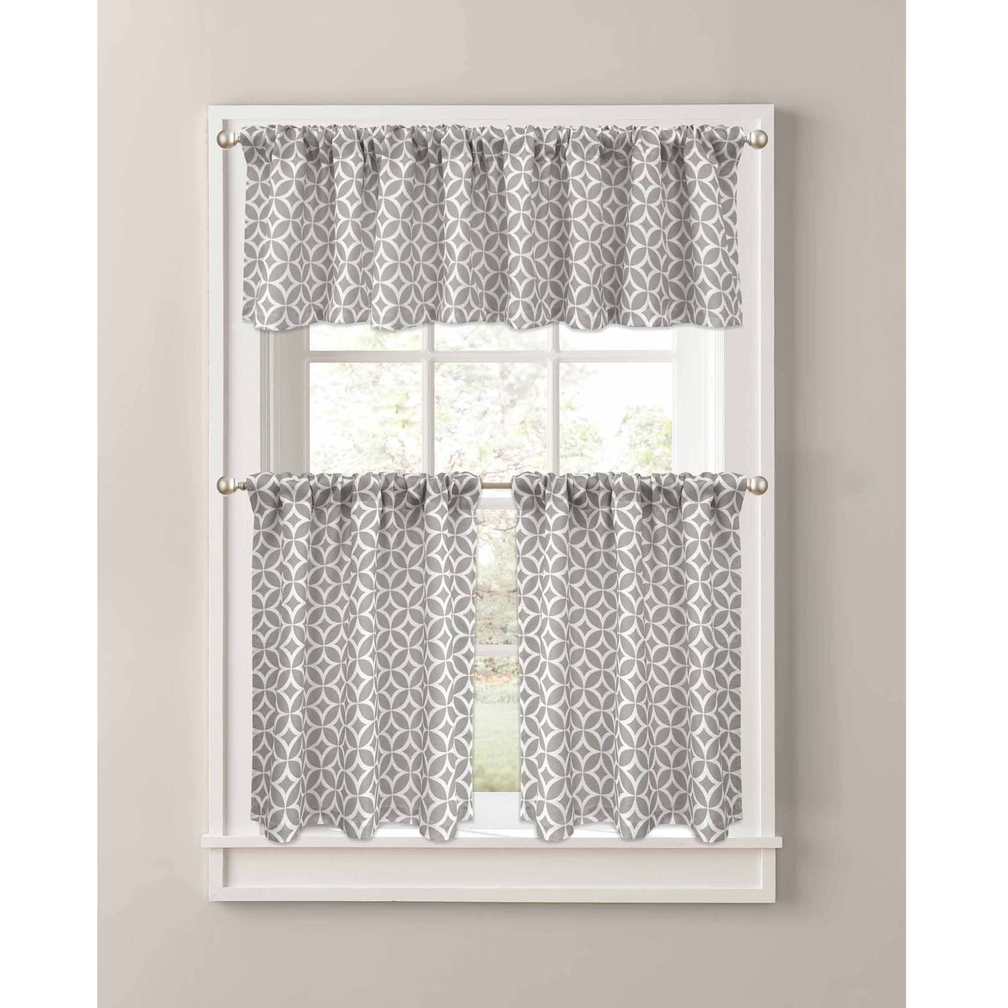 Better Homes, Gardens, Home, Garden, Better Homes In Luxurious Kitchen Curtains Tiers, Shade Or Valances (View 8 of 20)