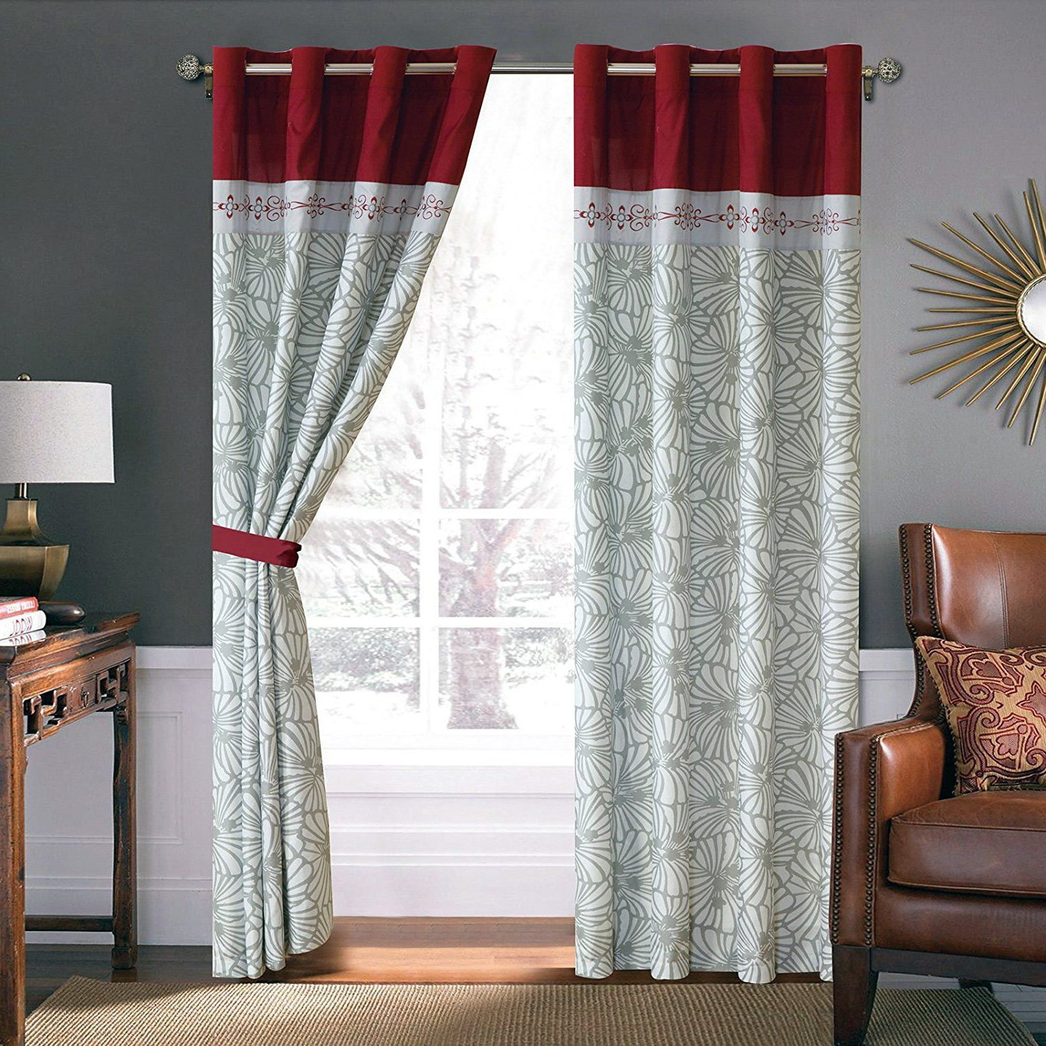 Burgundy Curtains (View 9 of 20)