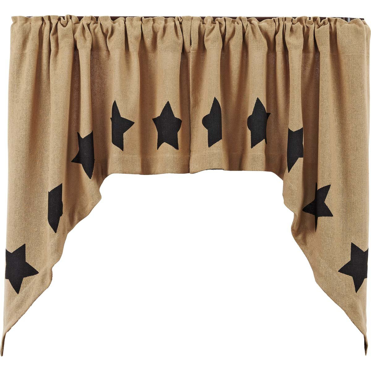 Burlap Swag Valances You'll Love To Have – Recipes With More With Trendy Check Scalloped Swag Sets (View 16 of 20)
