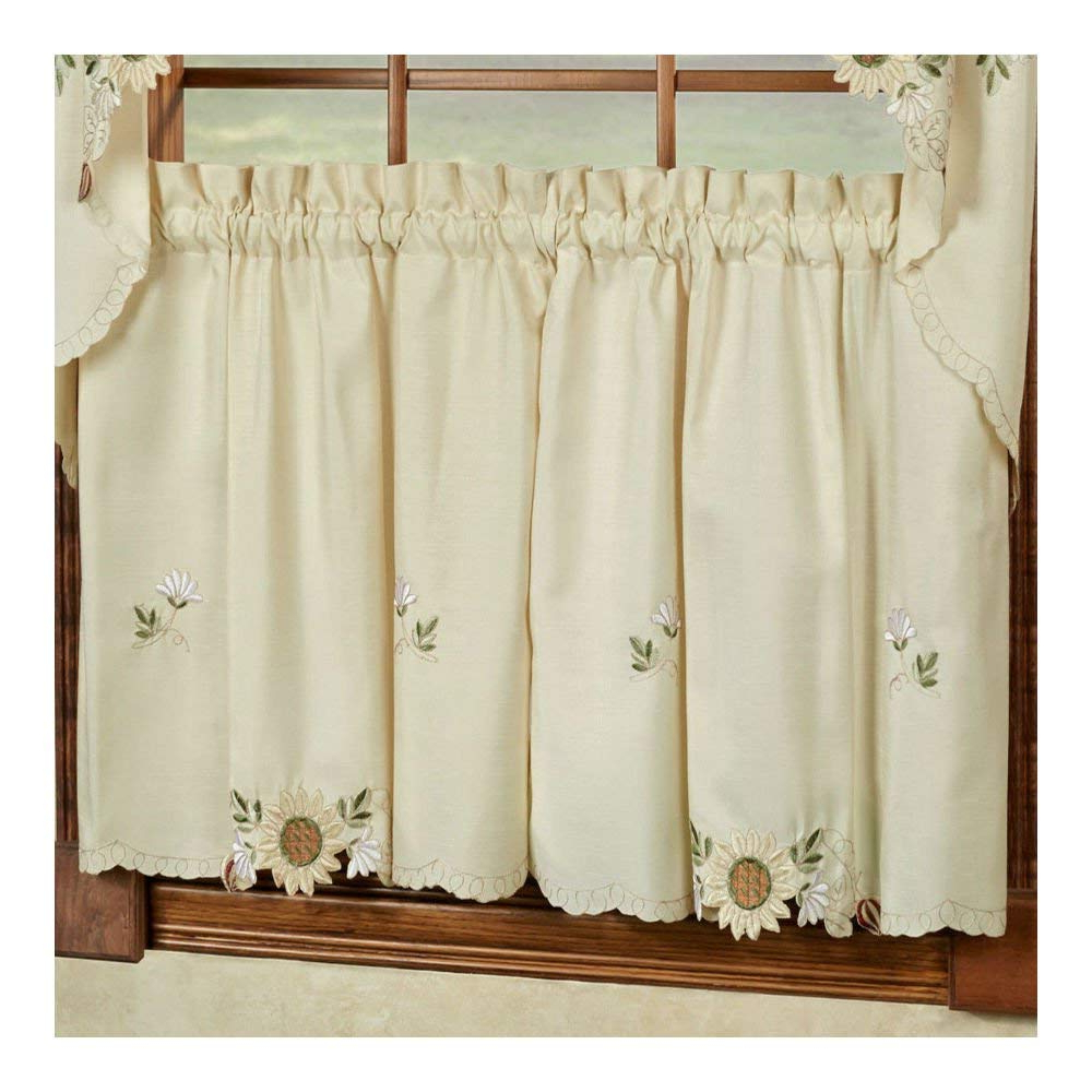 Cheap 36 Cafe Curtains, Find 36 Cafe Curtains Deals On Line Within Famous Traditional Tailored Window Curtains With Embroidered Yellow Sunflowers (View 20 of 20)