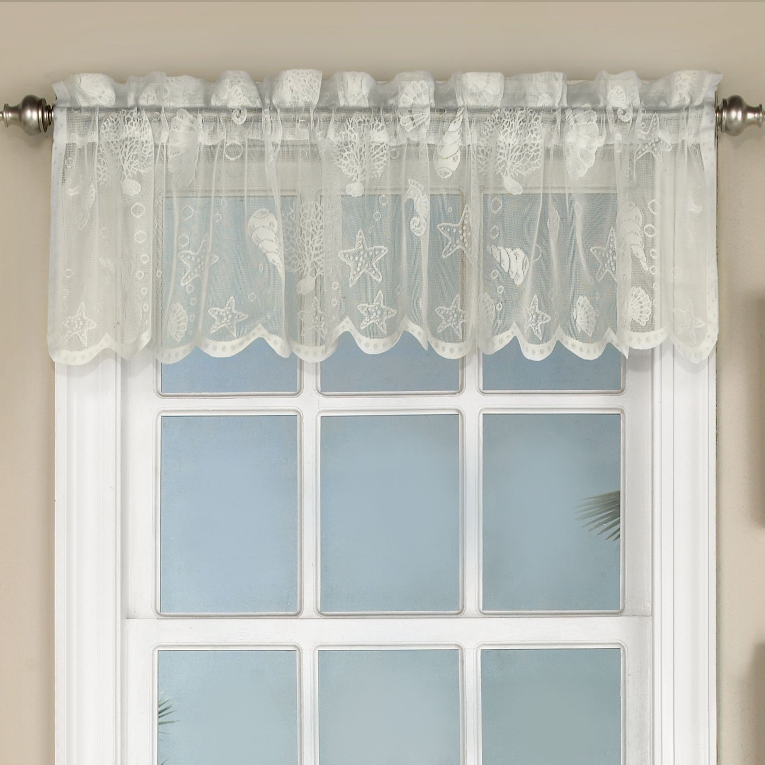Cheap White Lace Kitchen Curtains, Find White Lace Kitchen Inside Current French Vanilla Country Style Curtain Parts With White Daisy Lace Accent (View 3 of 20)