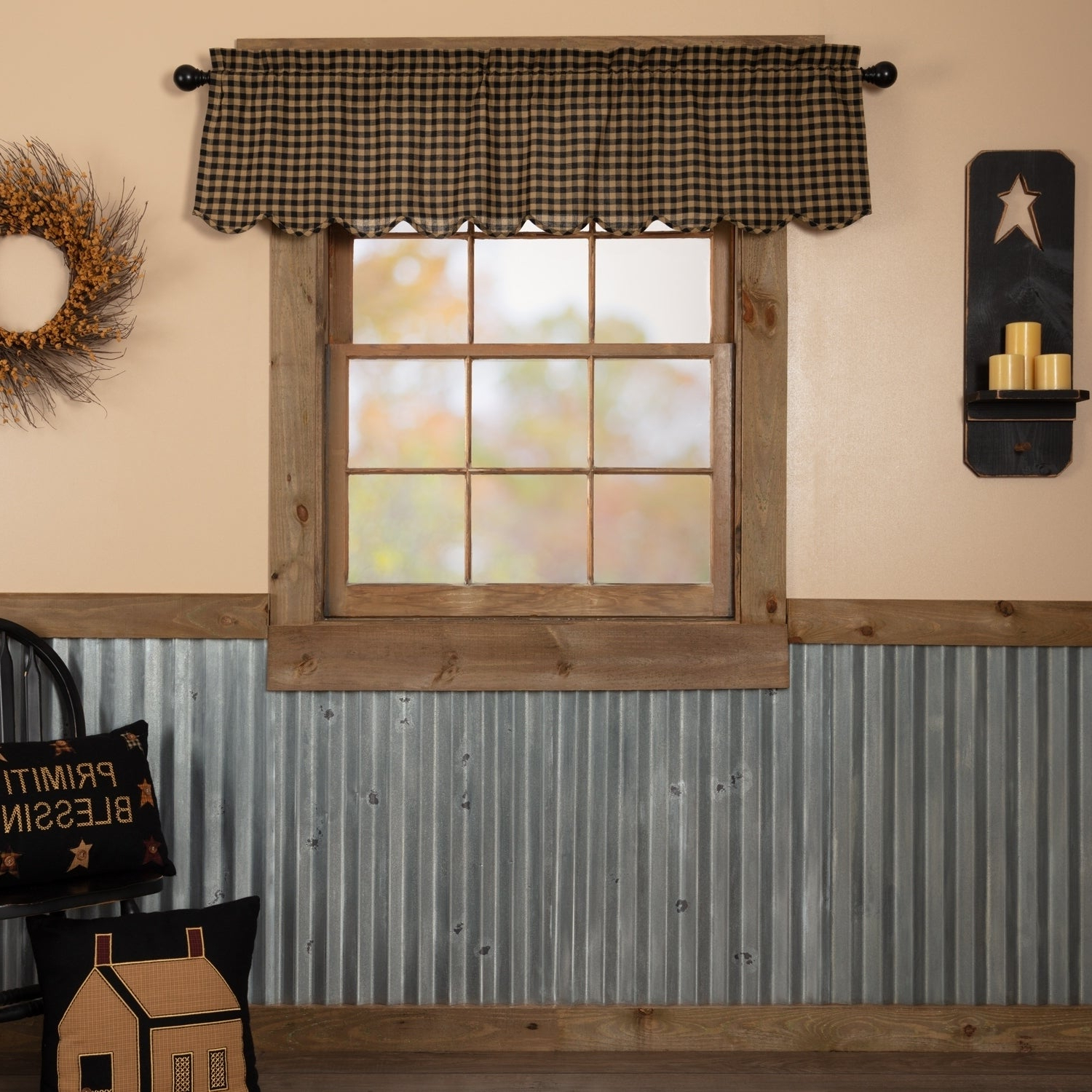 Check Scalloped Swag Sets In Most Current Check Scalloped Valance (View 10 of 20)