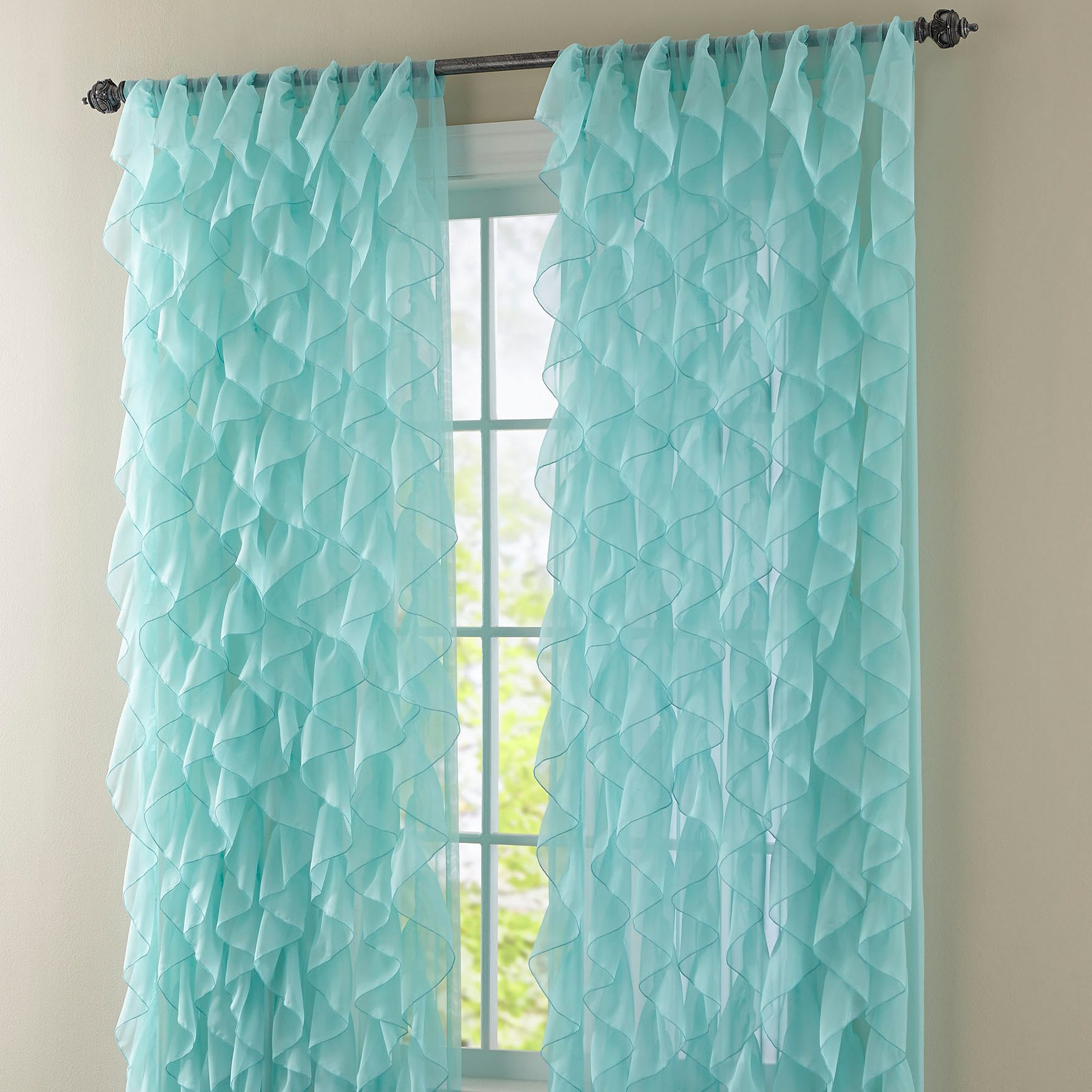 Chic Sheer Voile Vertical Ruffled Window Curtain Tiers Pertaining To Widely Used These Sheer Voile Curtains Display An Extravagance Of (View 19 of 20)