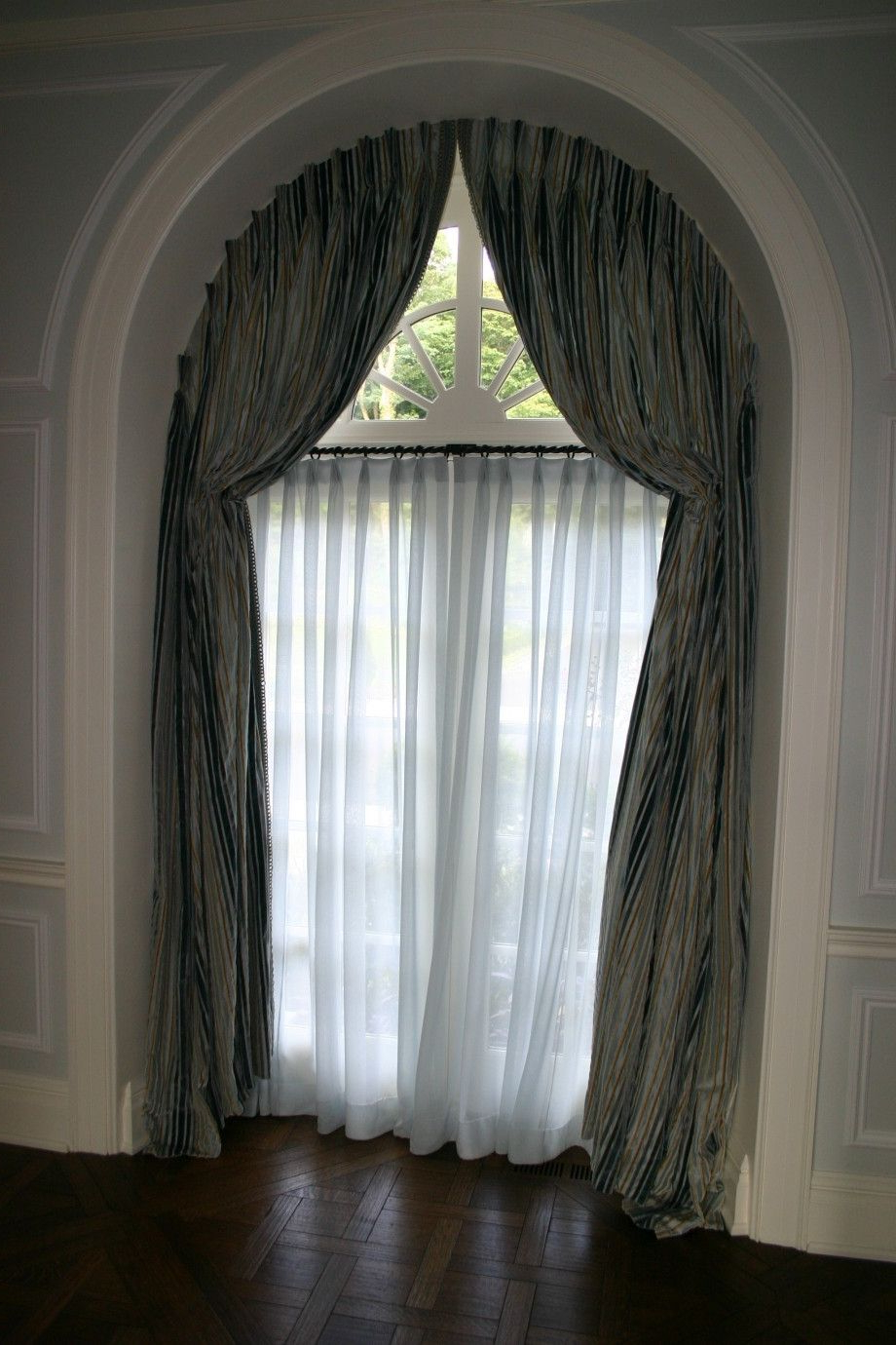 Circle Curtain Valances Inside Most Recently Released Arched Window Treatments Home Decoration Ideas Half Circle (View 5 of 20)