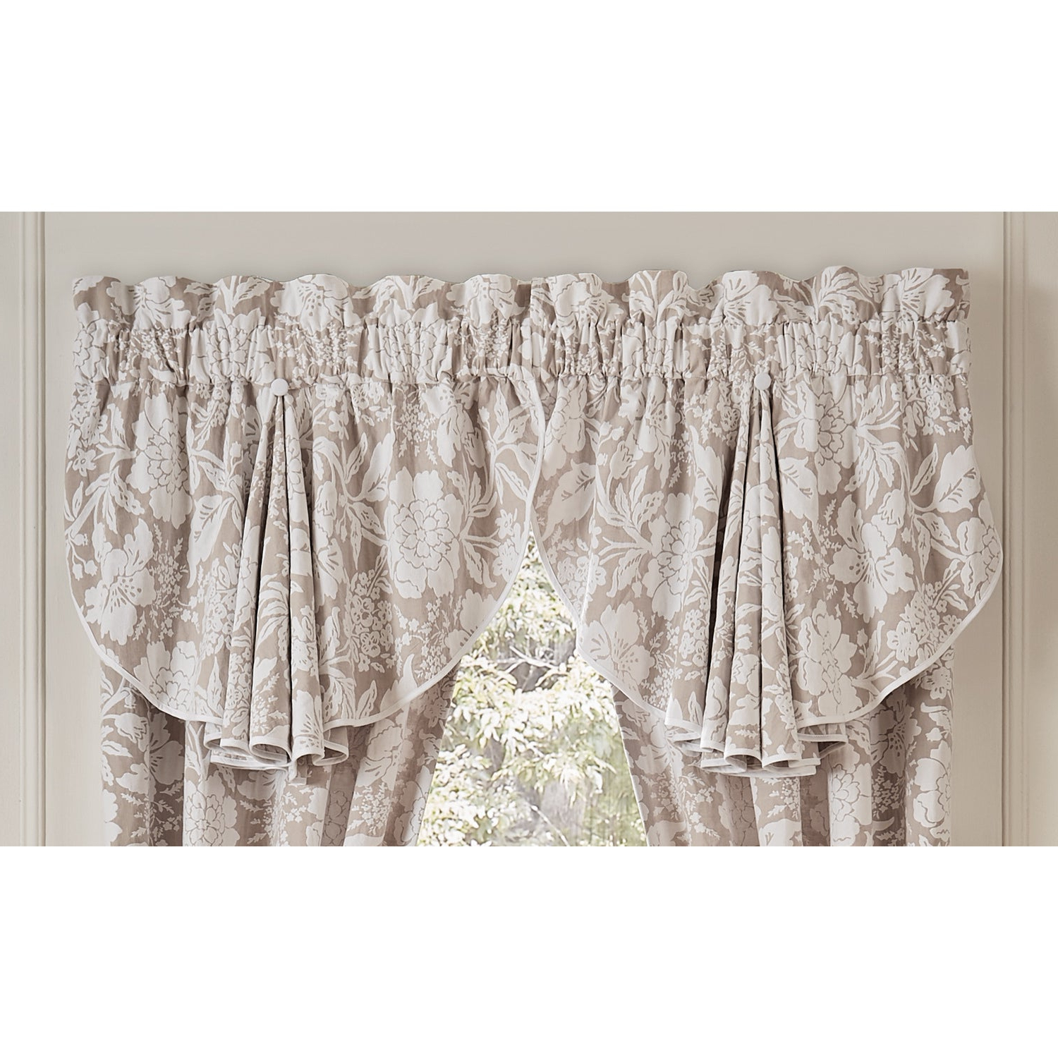 Circle Curtain Valances Within Most Current Nellie 42X24 Circle Curtain Valance – 42 X  (View 7 of 20)
