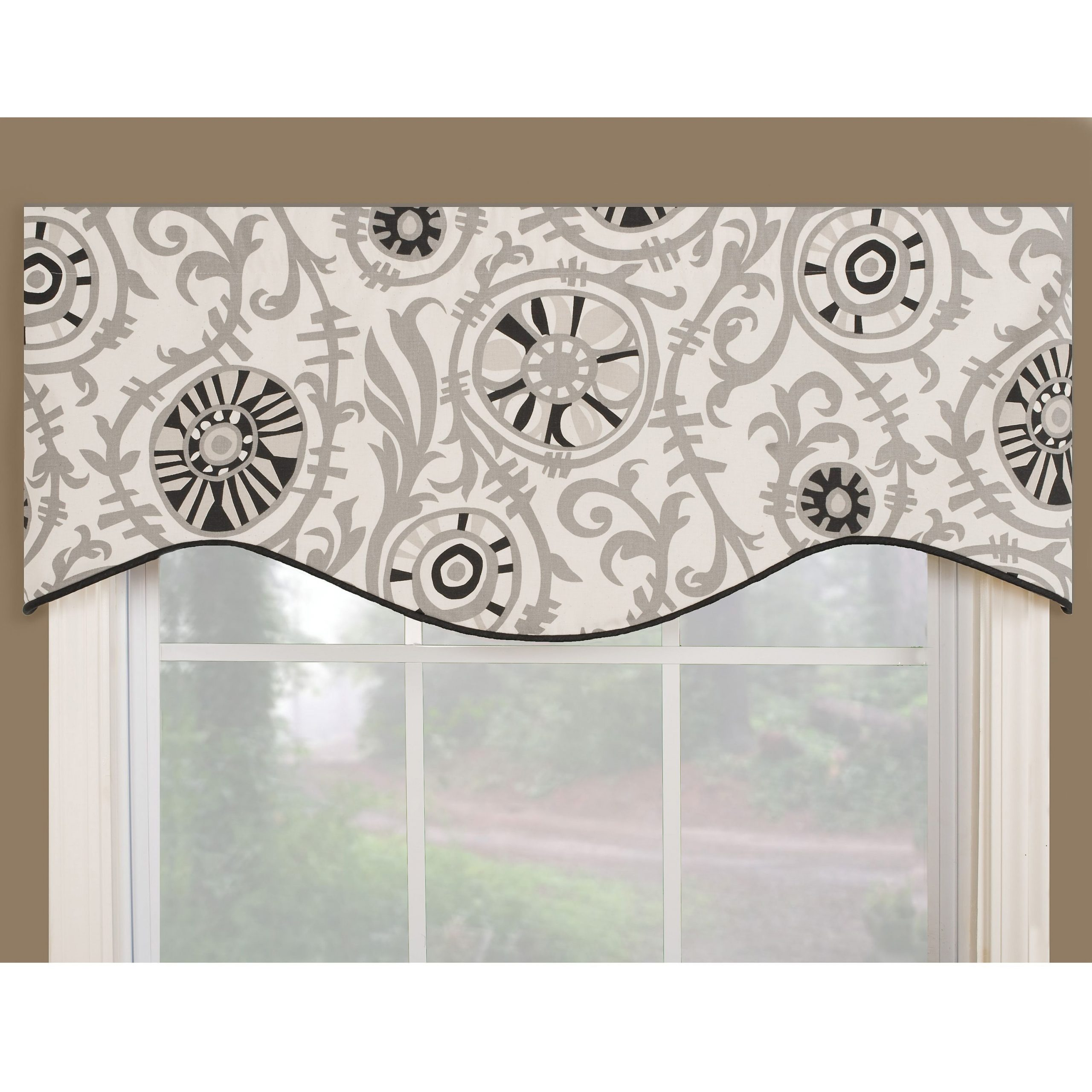 Classic Black And White Curtain Tiers Throughout Most Recently Released This Classic Valance Works To Define Window Design (View 15 of 20)