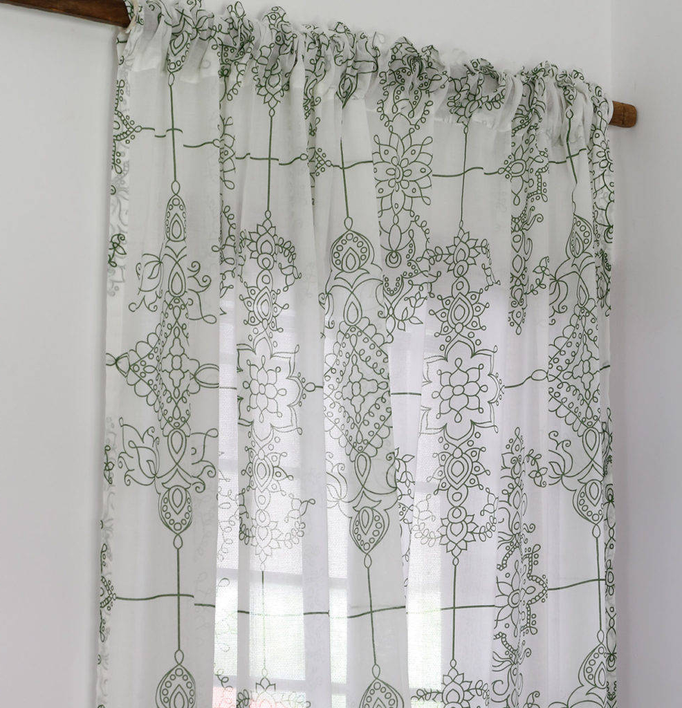Classic Black And White Curtain Tiers With Regard To Favorite Curtain Mint Green Curtains Classic Lines Sheer Cotton Light (View 17 of 20)