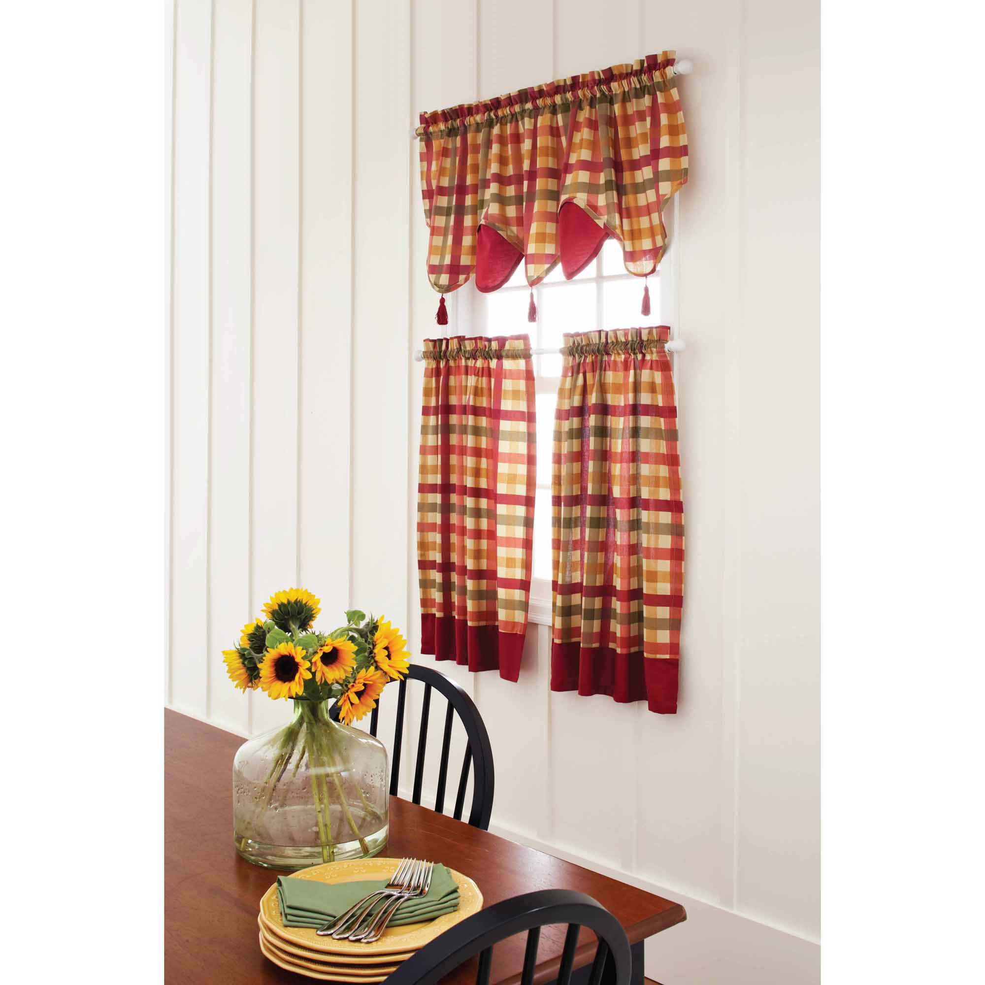 Classic Kitchen Curtain Sets In Most Current Surprising Basement Window Curtains Target Valances (View 5 of 20)